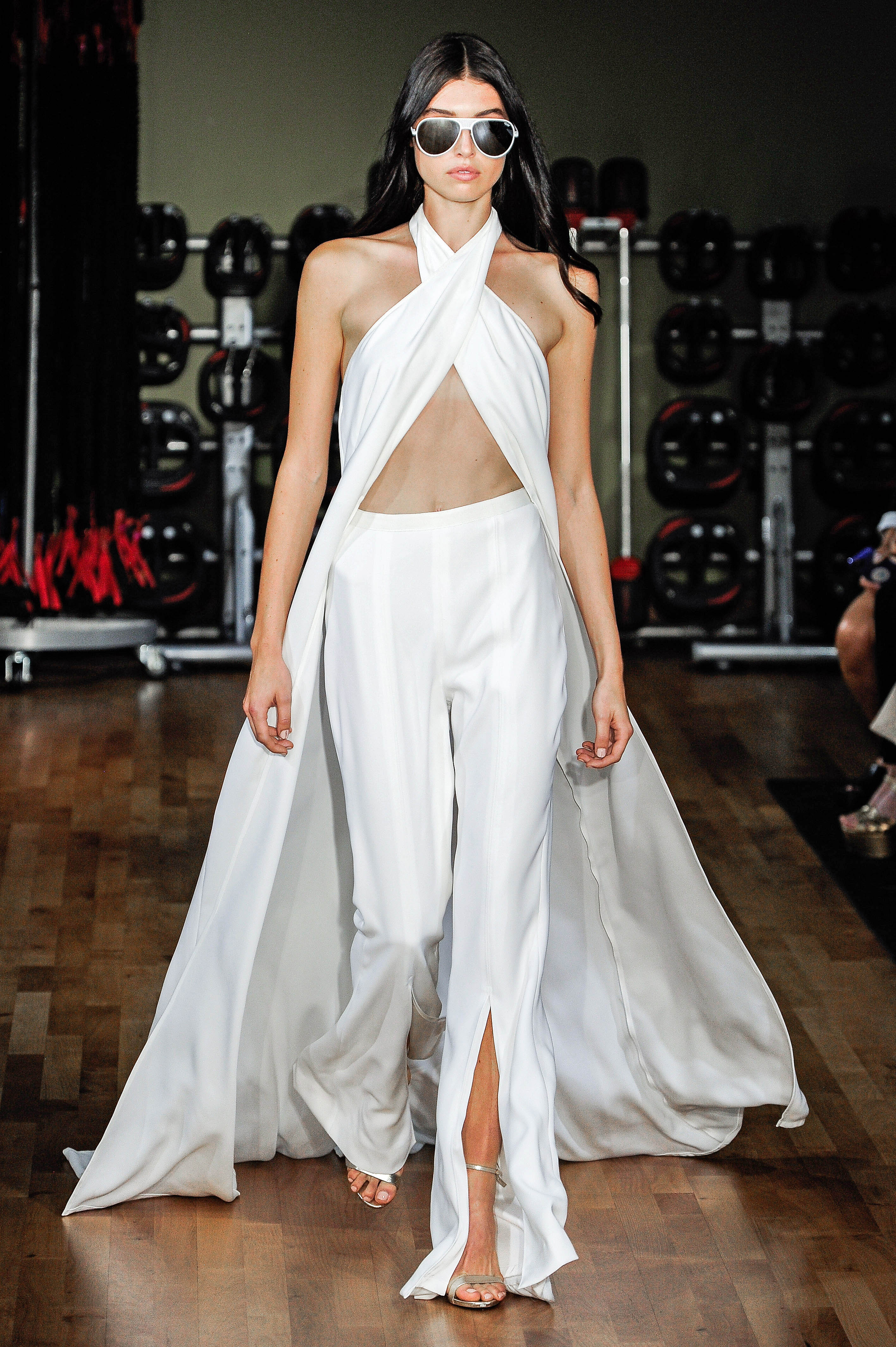 Rivini by Rita Vinieris Pants with Cape Wedding Dress Fall 2018