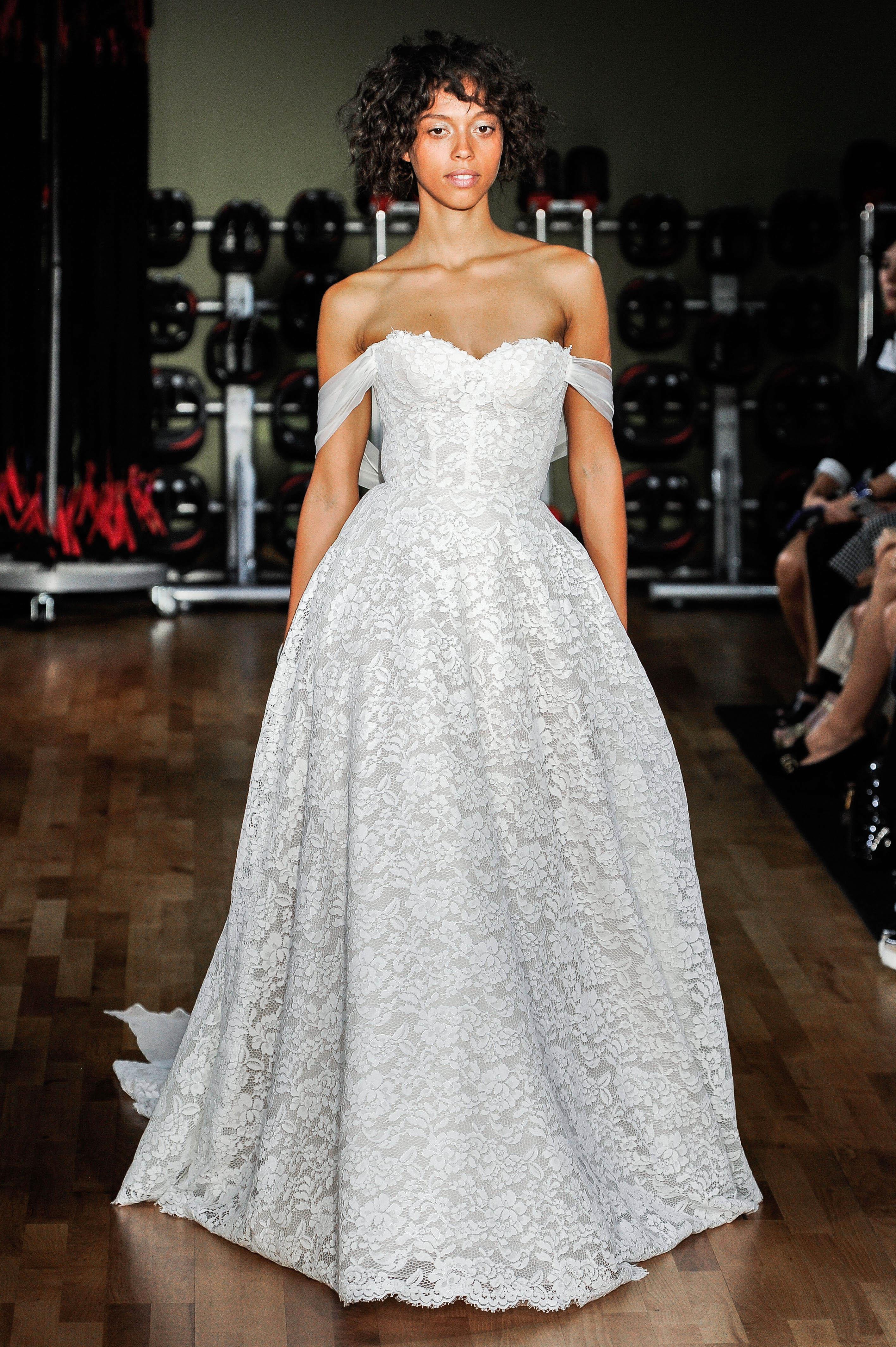 rivini by rita vinieris wedding dress fall 2018 lace off the shoulder ball gown