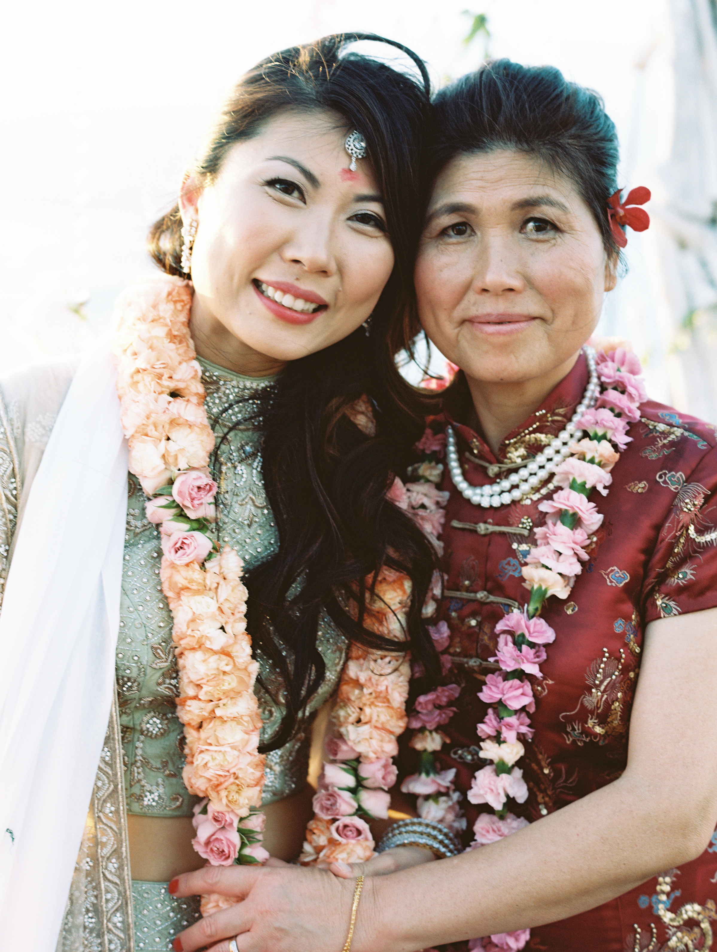 A Bride and Her Mom on Her Wedding Day
