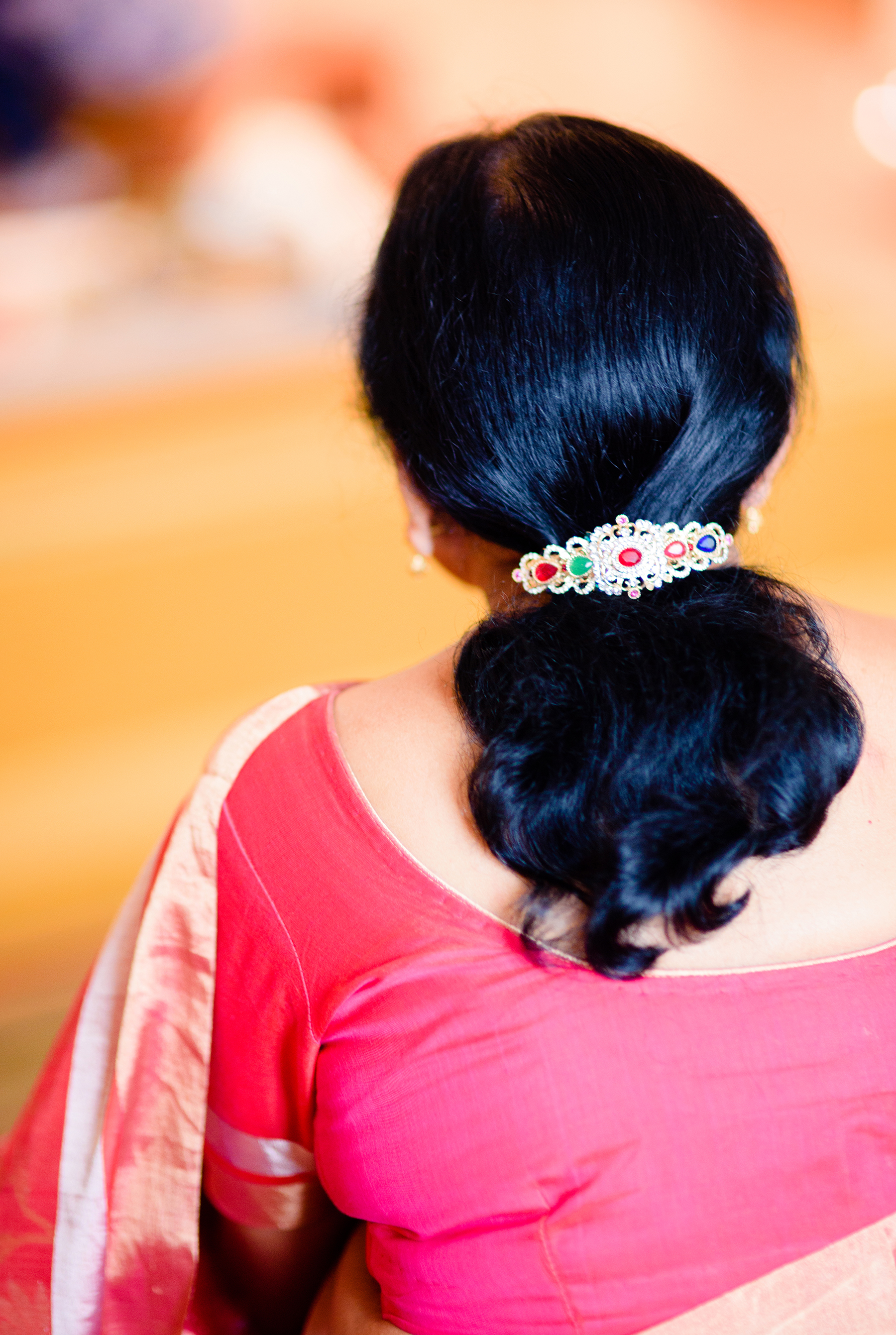 Mother of the Bride Ponytail with Jeweled Clip Hairstyle