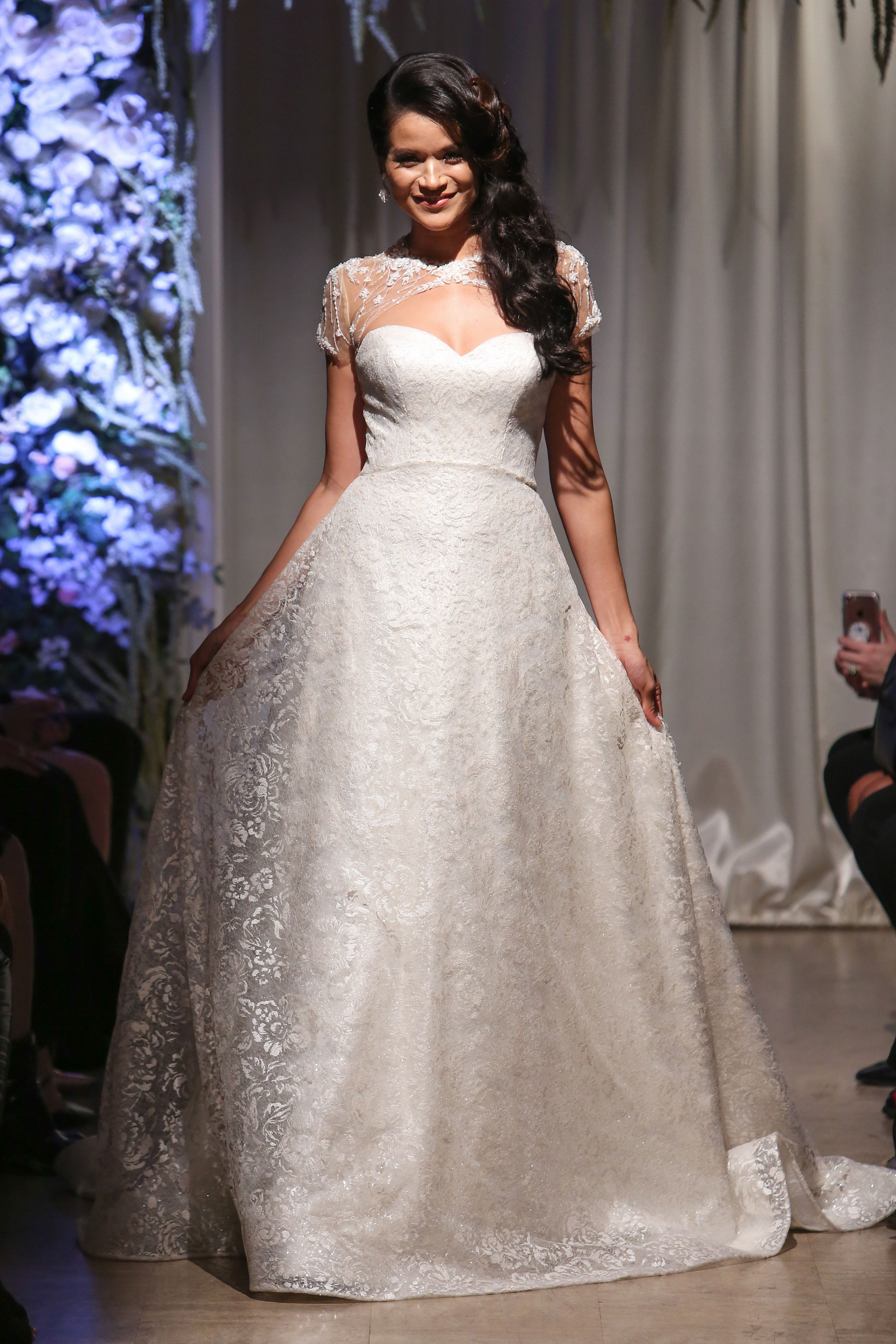matthew christopher 2018 lace overlay sweetheart wedding dress