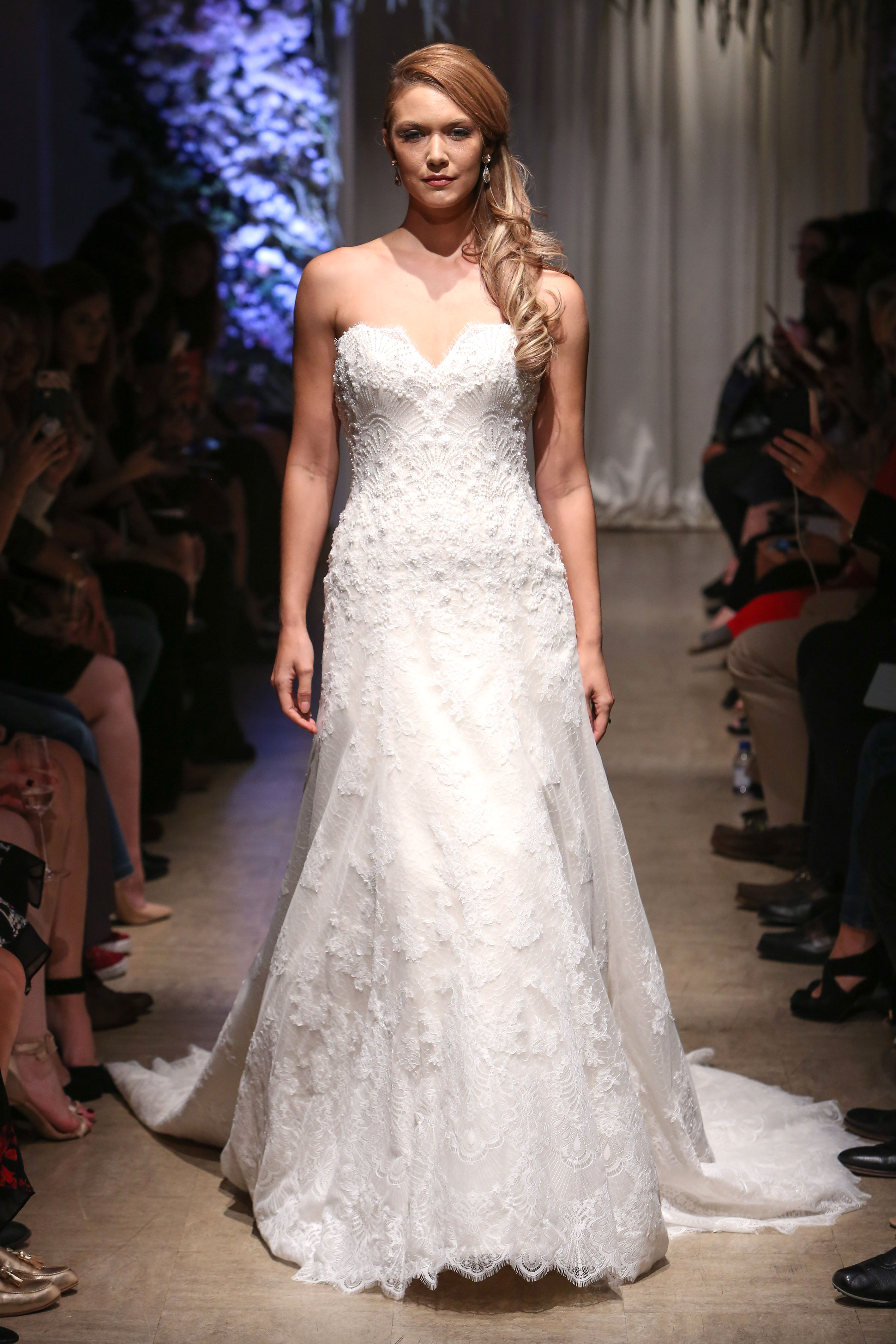 matthew christopher 2018 lace a-line wedding dress