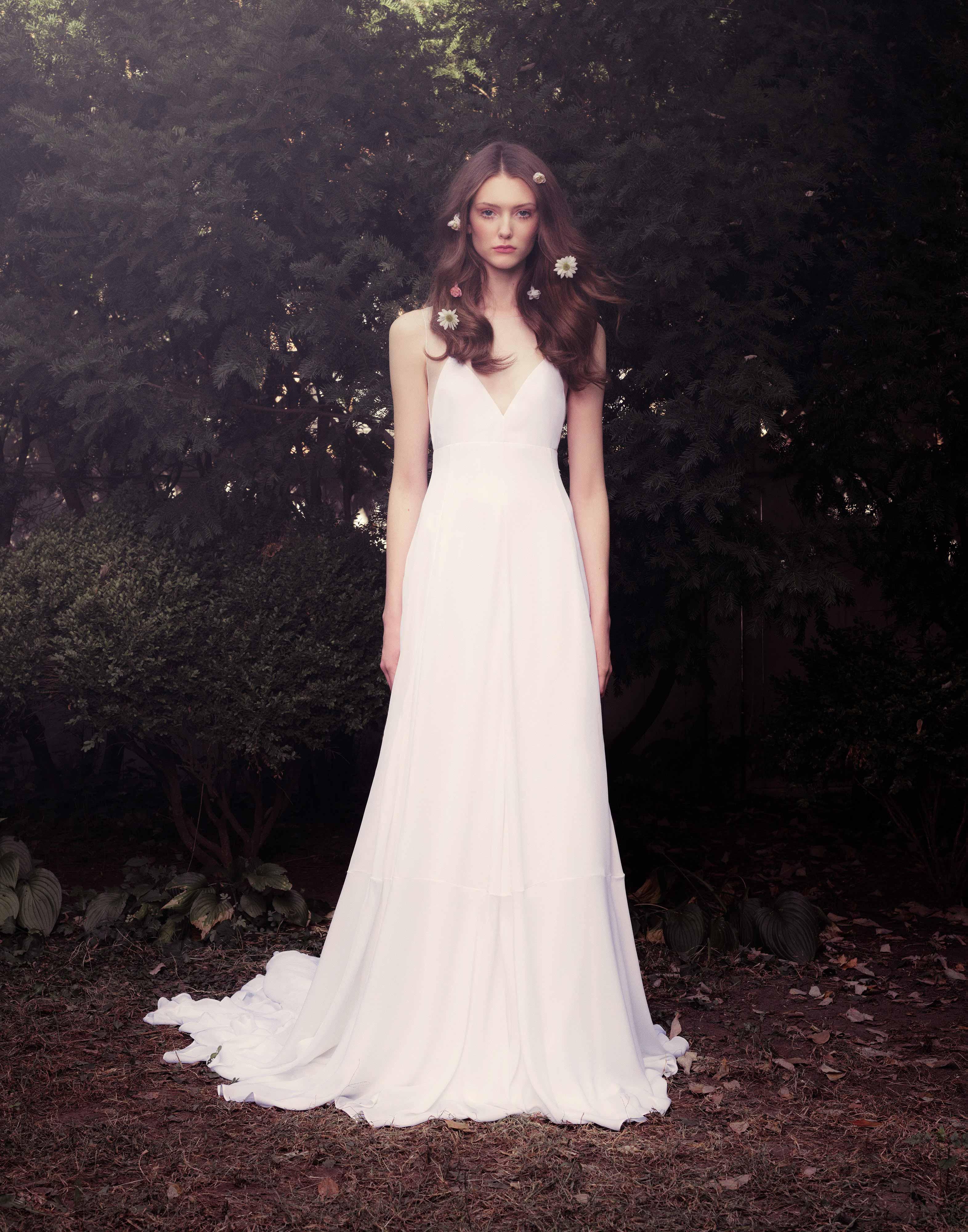 honor fall 2018 v-neck wedding dress