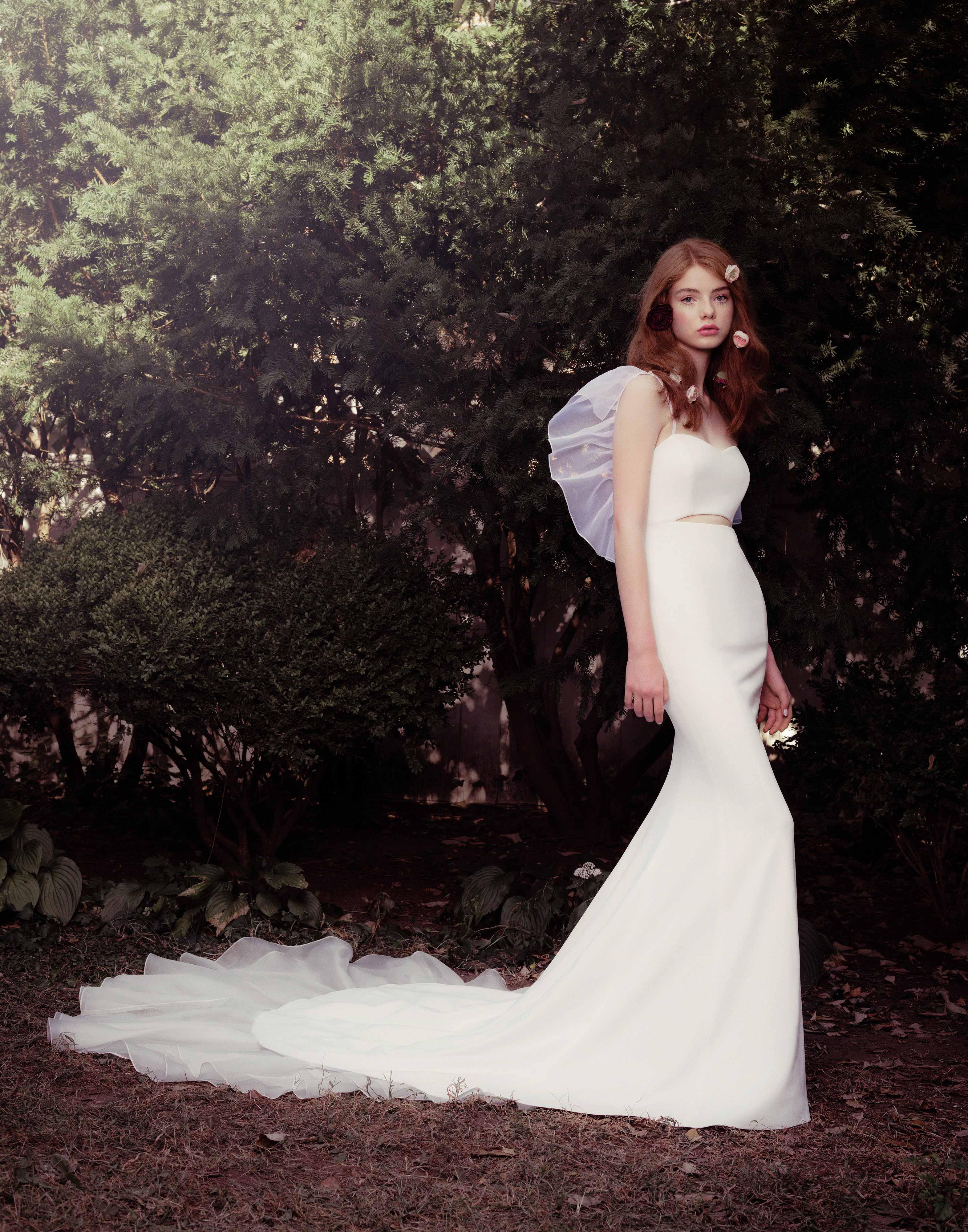 honor fall 2018 sweetheart cutout flutter sleeve dress