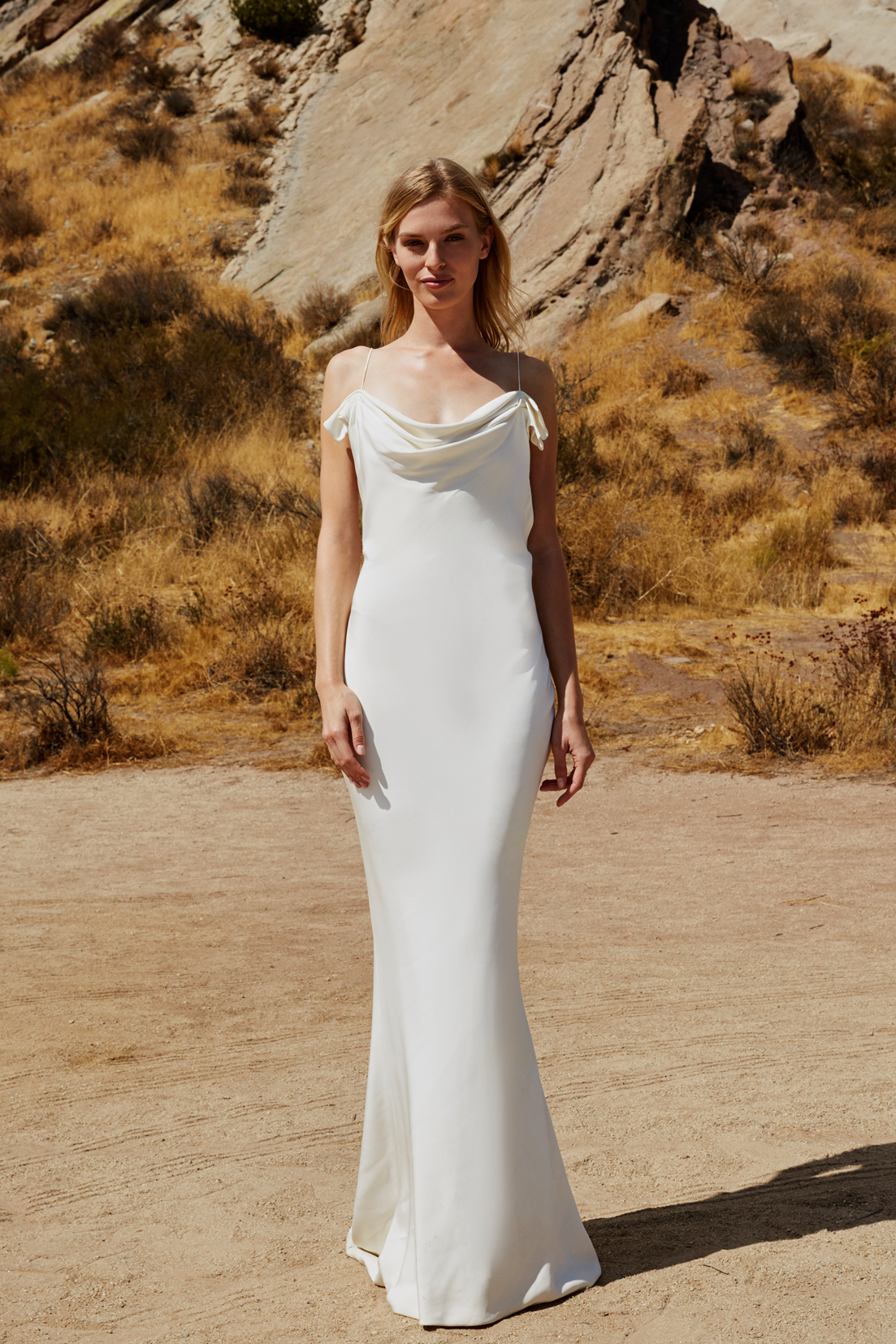 savannah miller fall 2018 spaghetti strap wedding dress