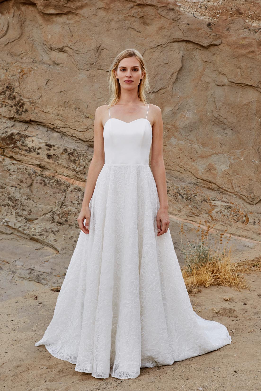 savannah miller fall 2018 sweetheart spaghetti strap wedding dress