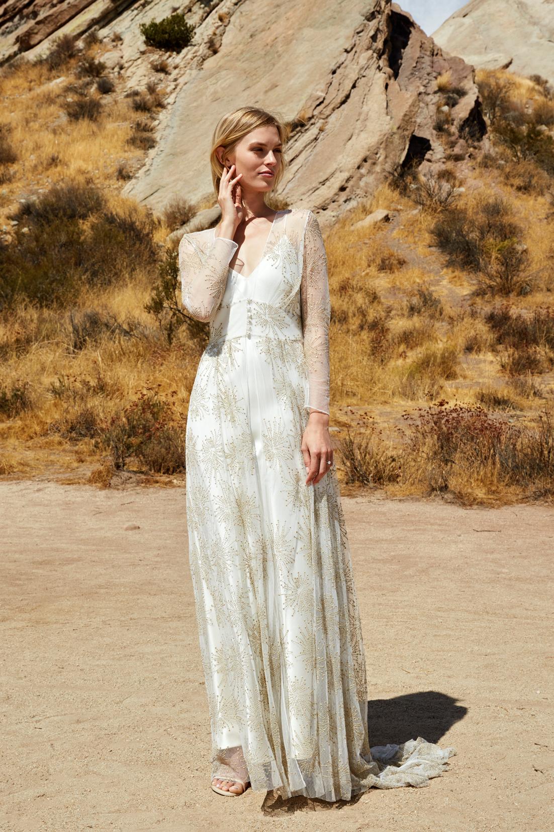 savannah miller fall 2018 overlay wedding dress
