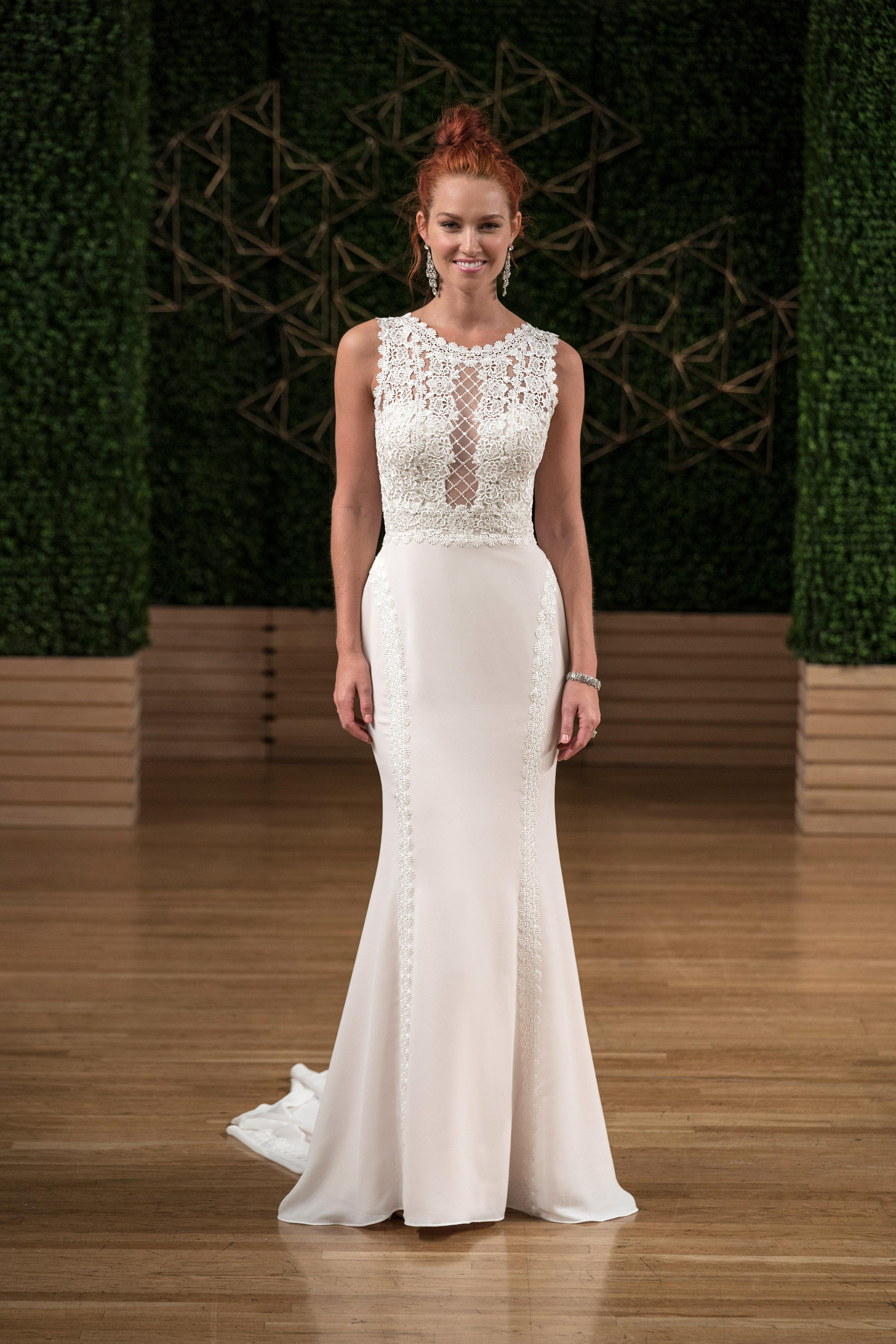 sottero midgley wedding dress fall 2018 high neck trumpet sleeveless