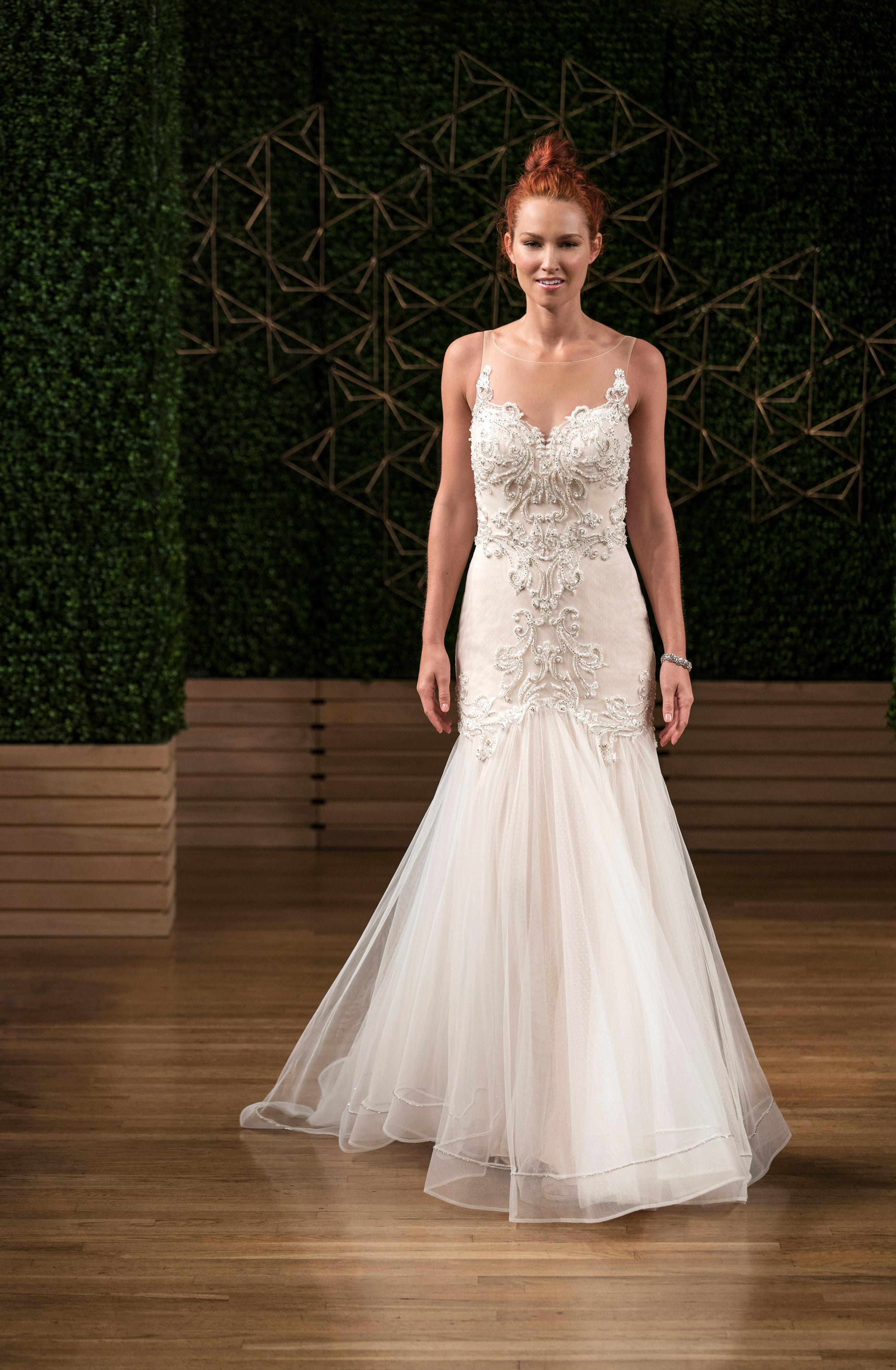 sottero midgley wedding dress fall 2018 illusion mermaid embellishment