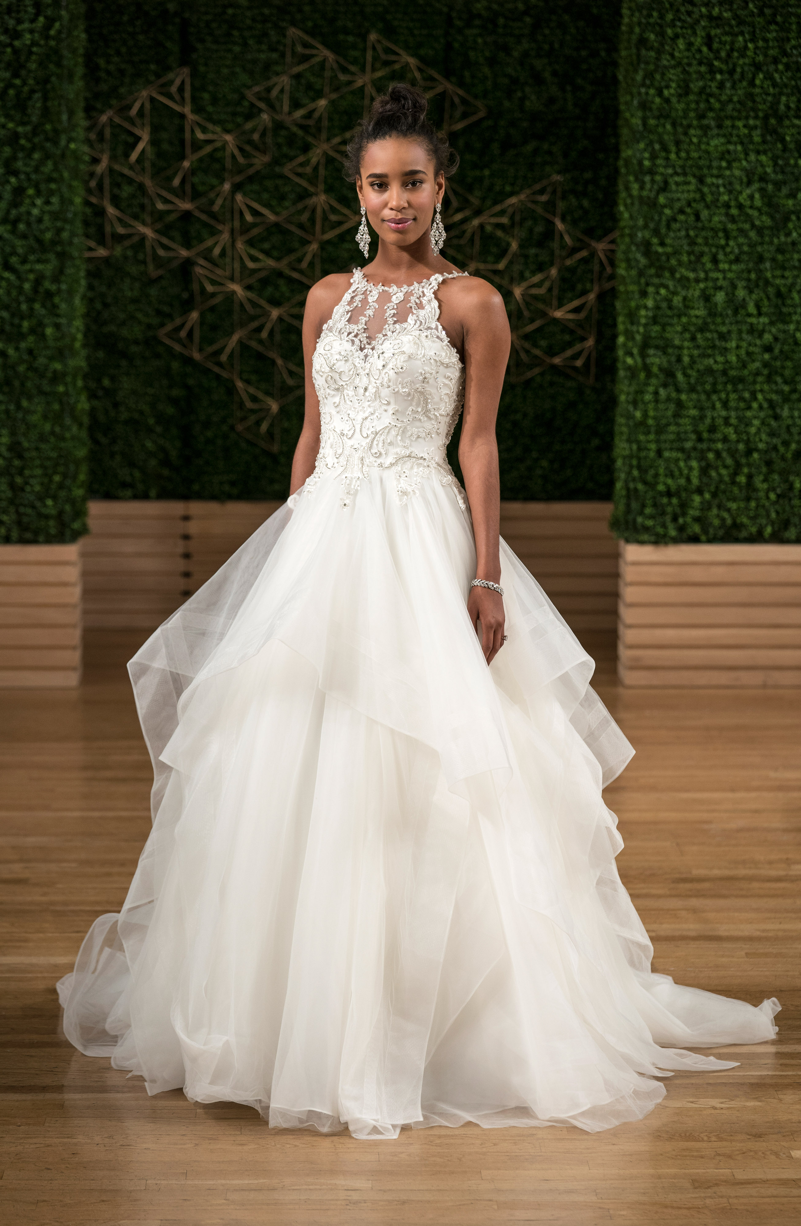 sottero midgley wedding dress fall 2018 high neck tulle ball gown