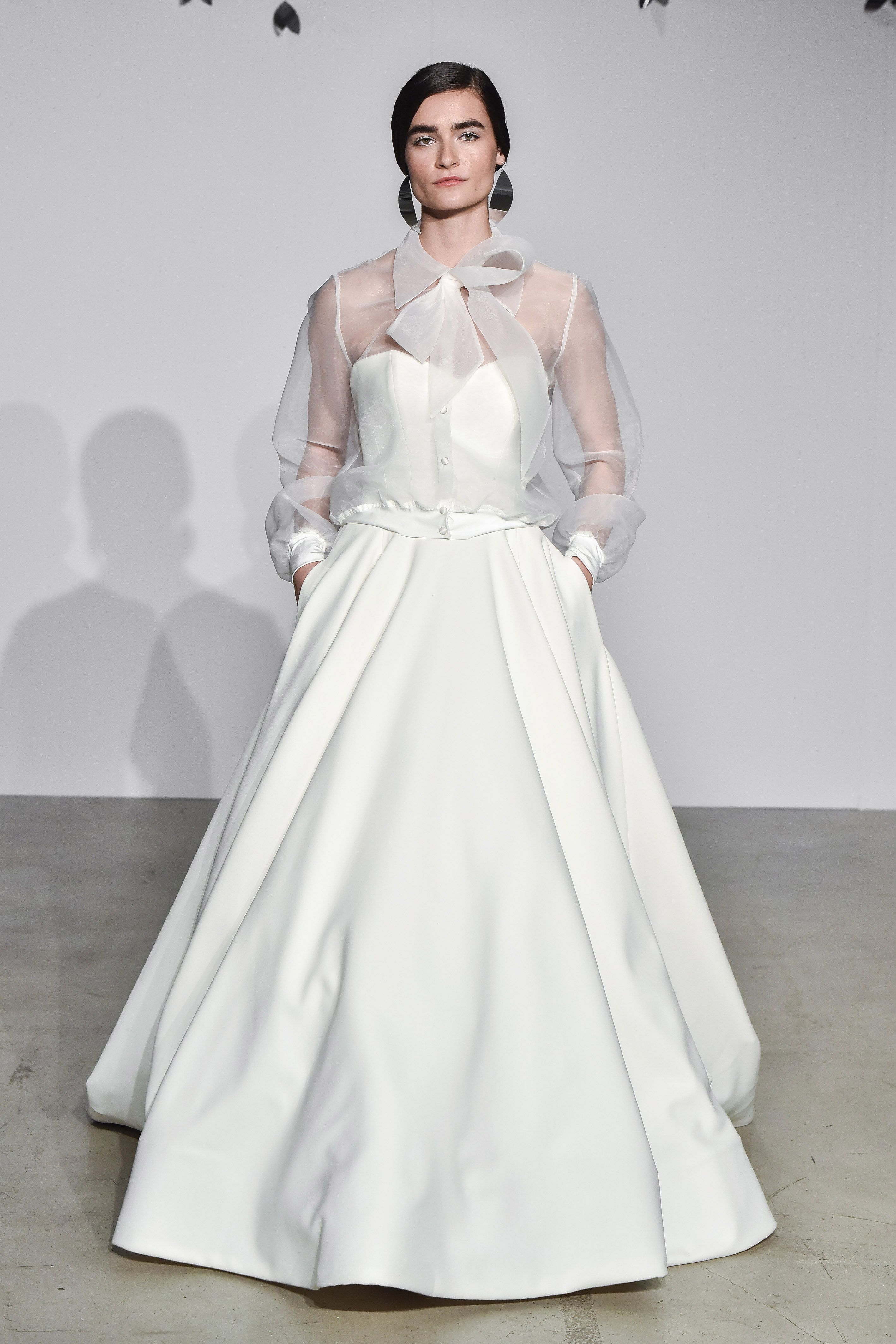 justin alexander fall 2018 sheer overlay ballgown wedding dress