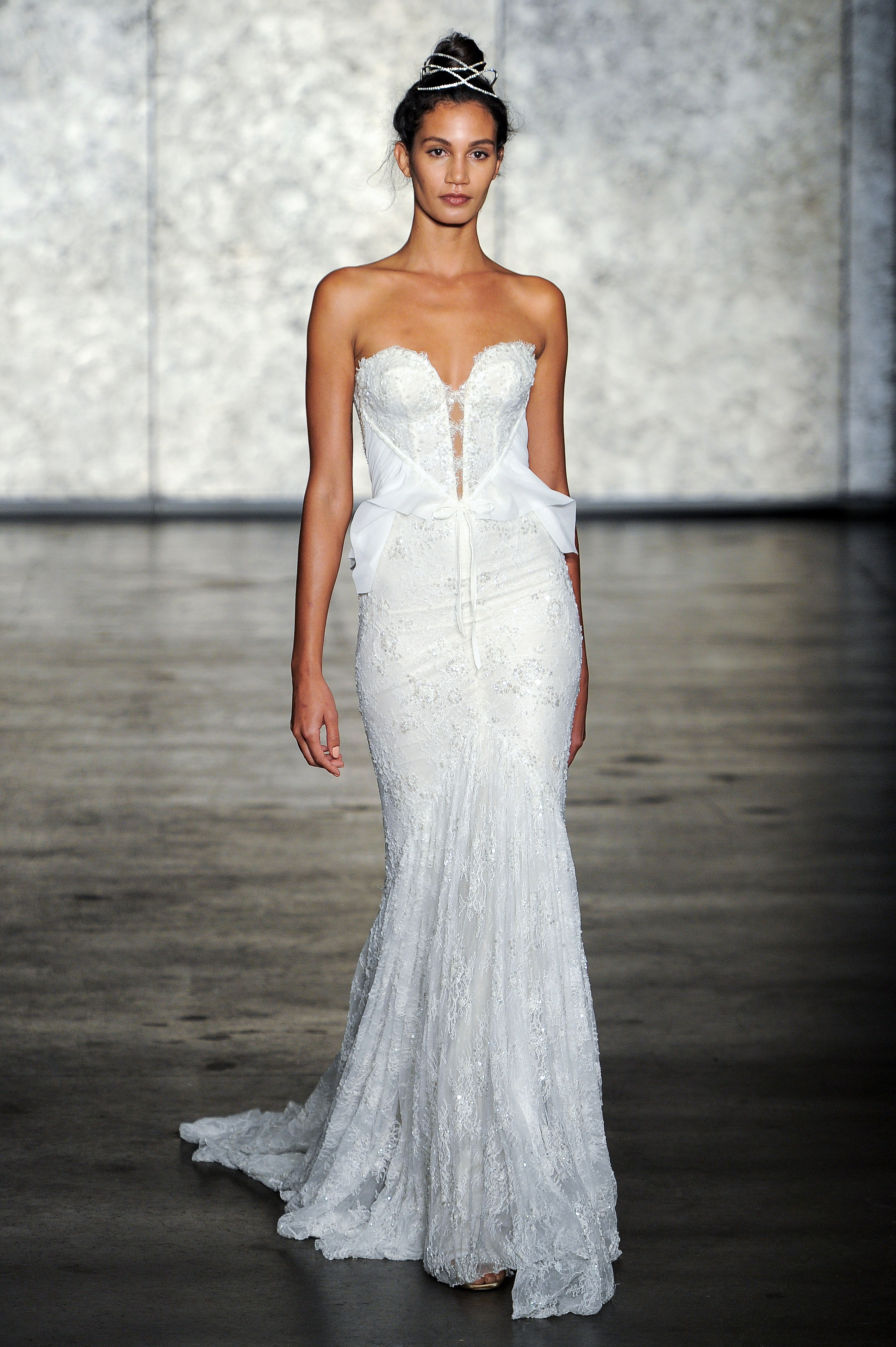 inbal dror wedding dress fall 2018 trumpet sweetheart beaded