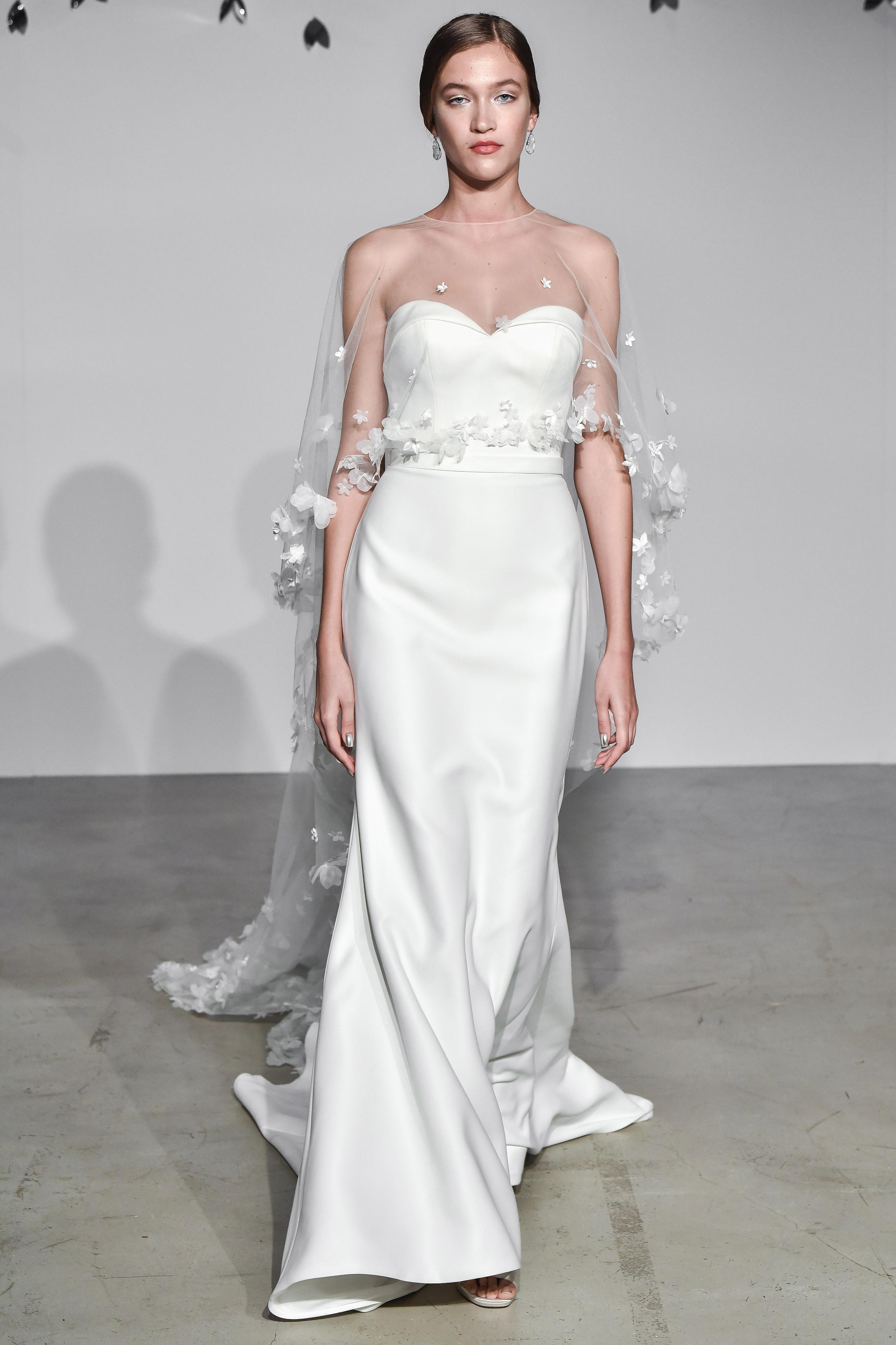 justin alexander fall 2018 sheer overlay sweetheart wedding dress