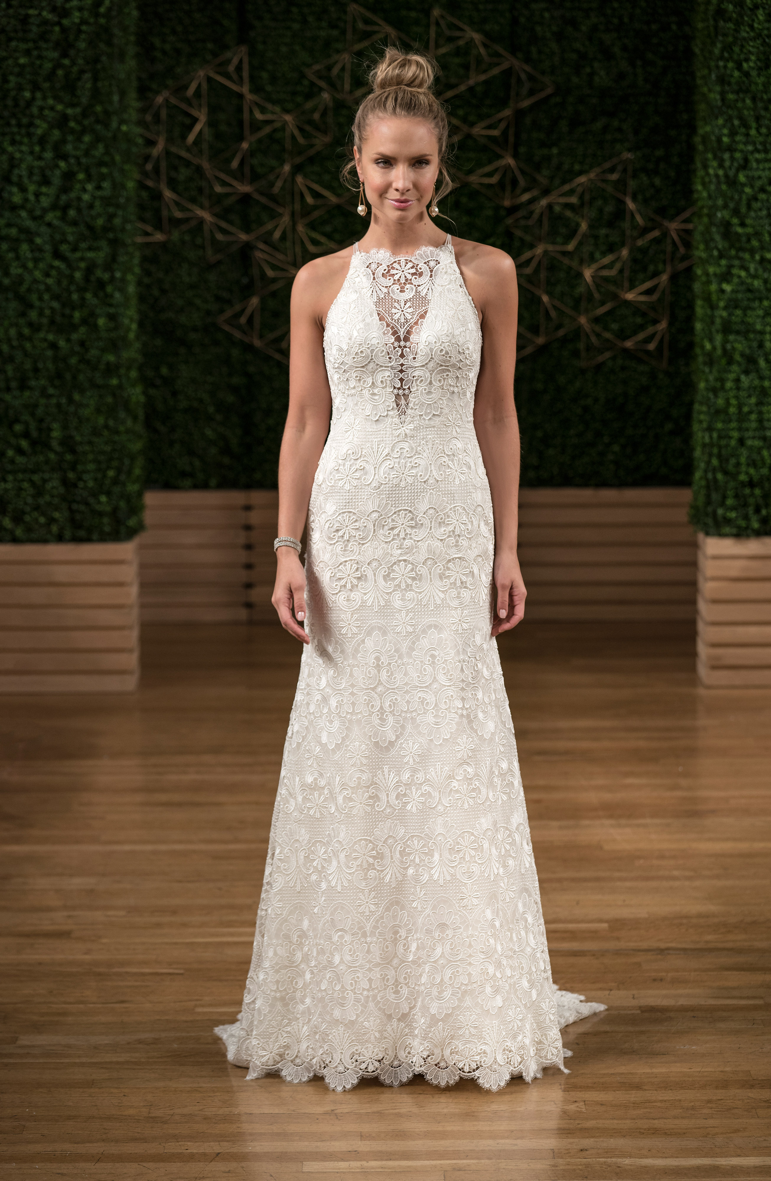 sottero midgley wedding dress fall 2018 high neck illusion v sheath