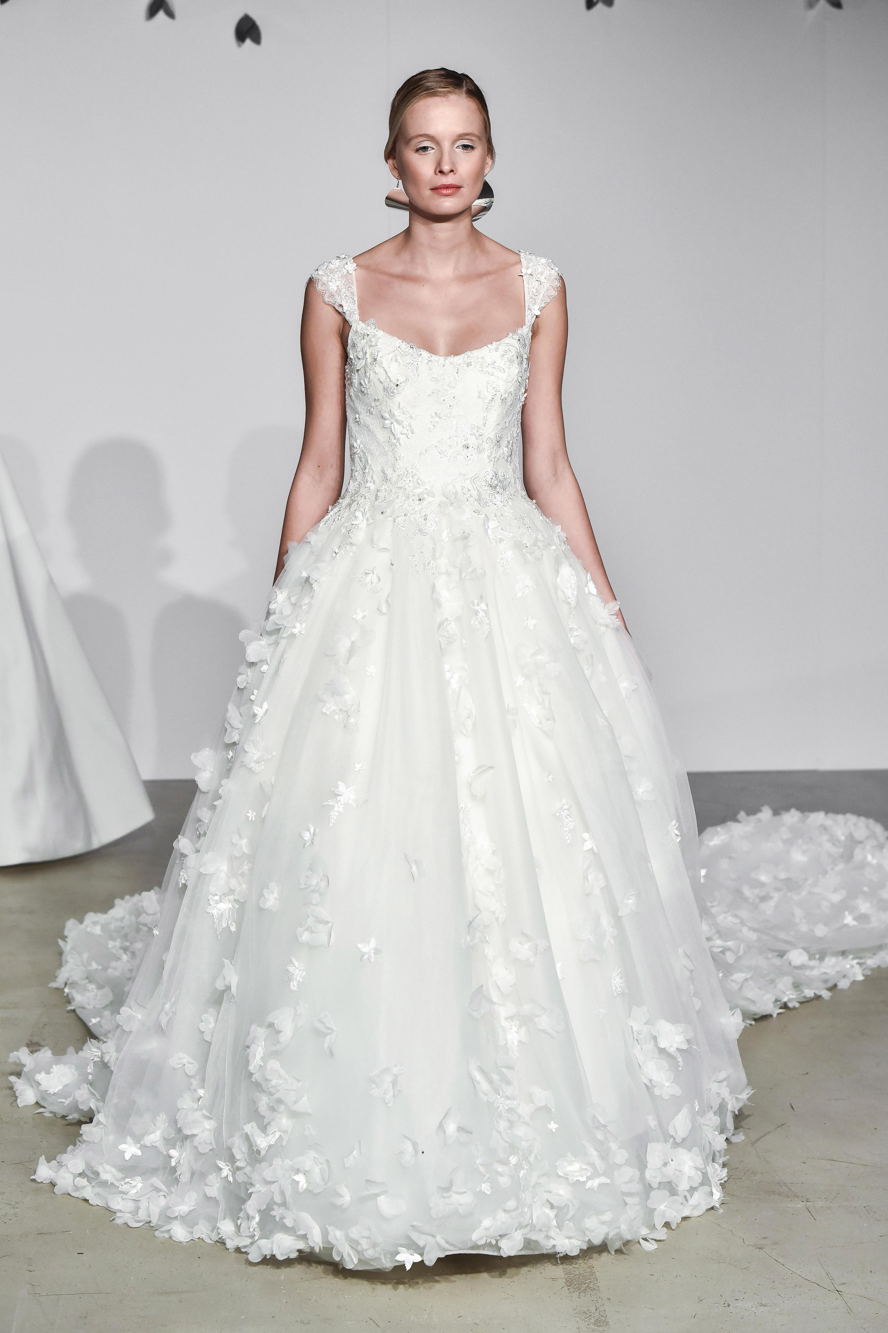 justin alexander fall 2018 cap sleeve ballgown wedding dress