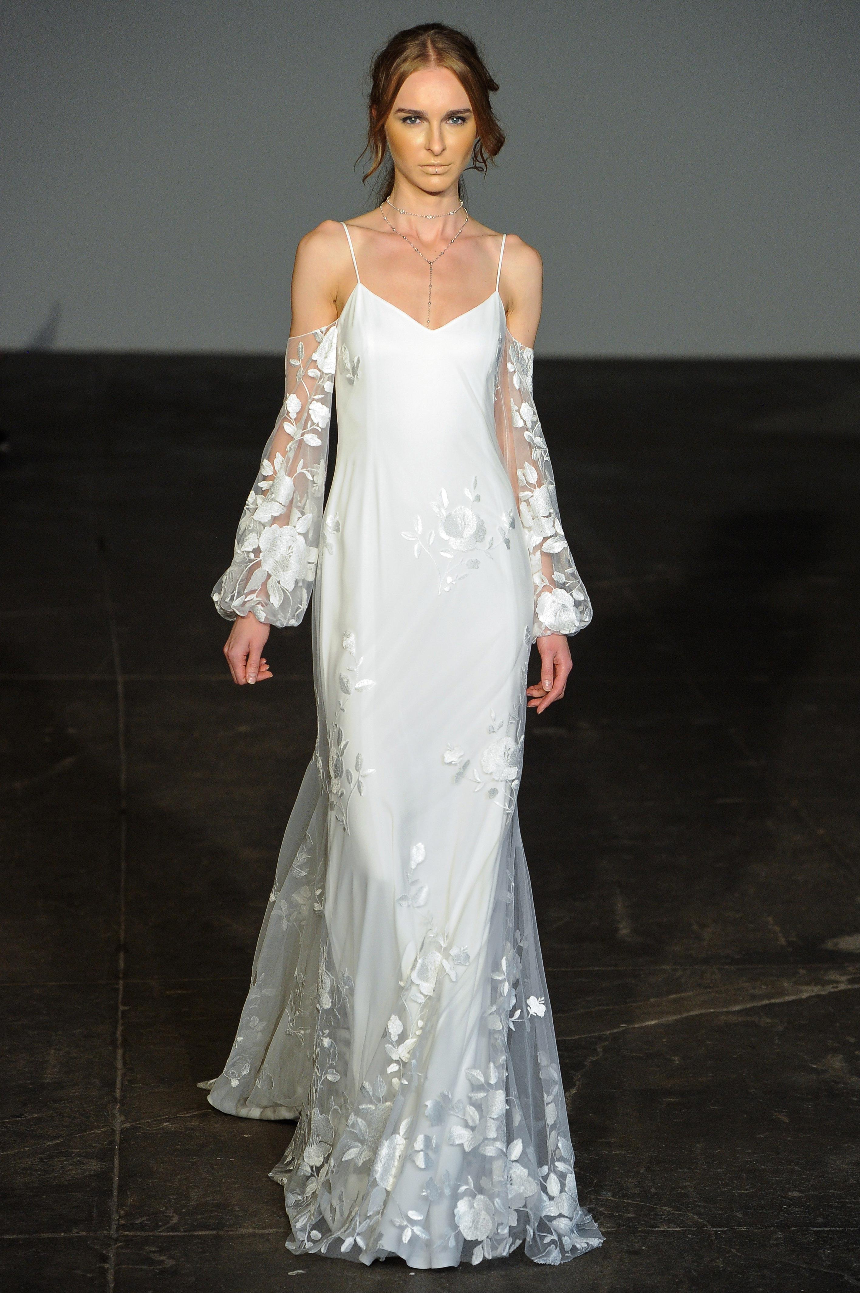 rime arodaky fall 2018 spaghetti strap wedding dress