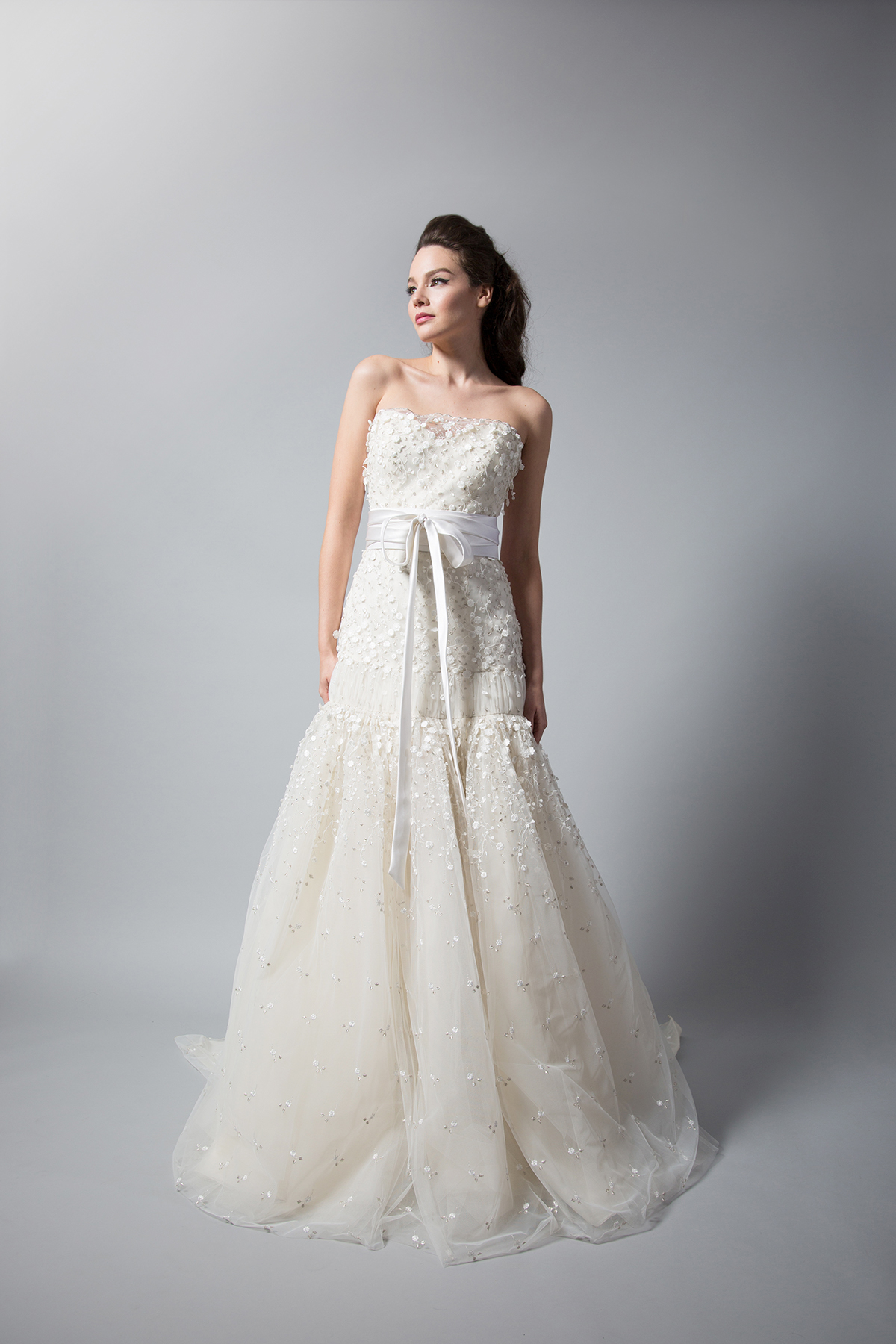 randi rahm a-line wedding dress with floral embellishments fall 2018