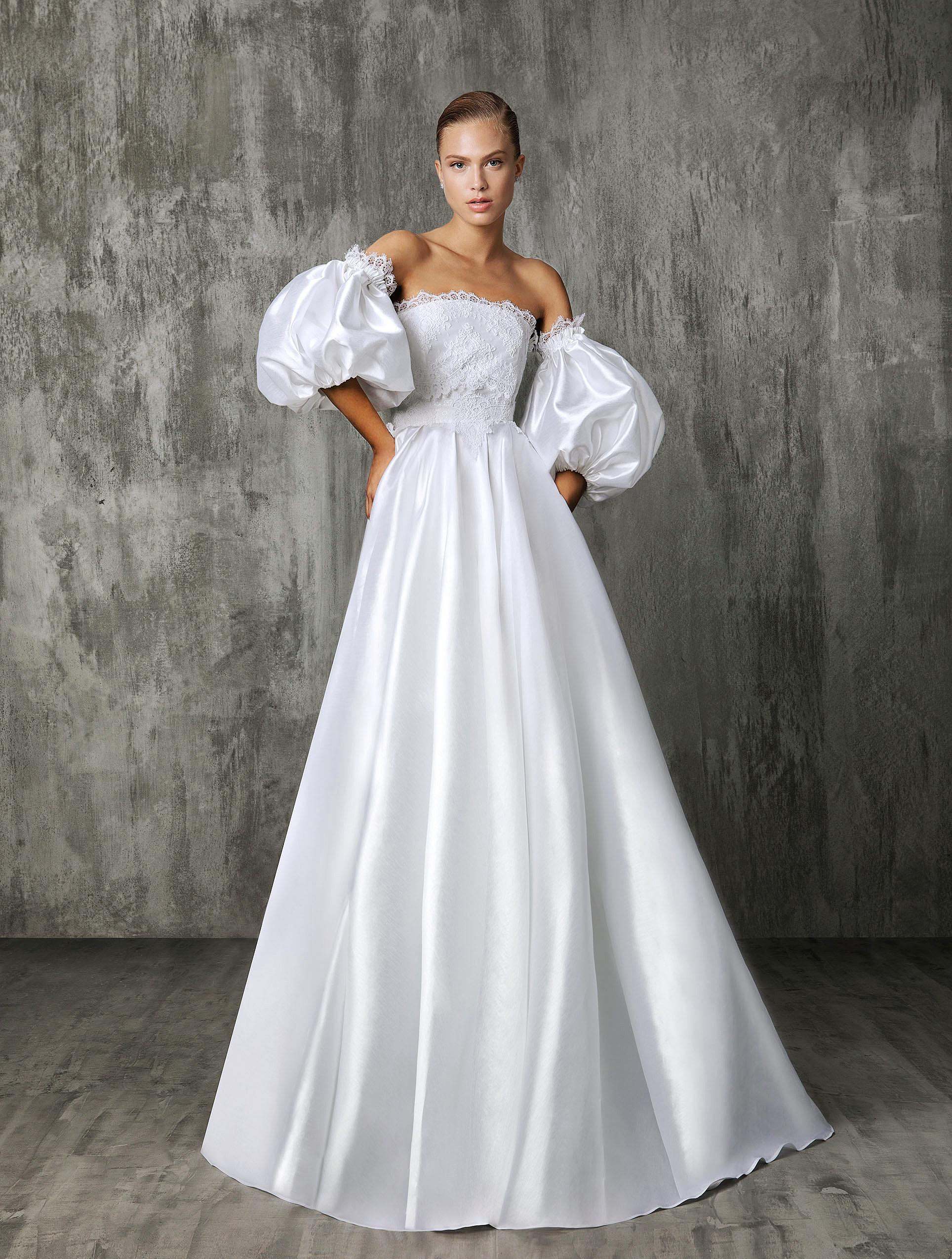 Victoria Kyriakides Puffed Sleeves Wedding Dress Fall 2018