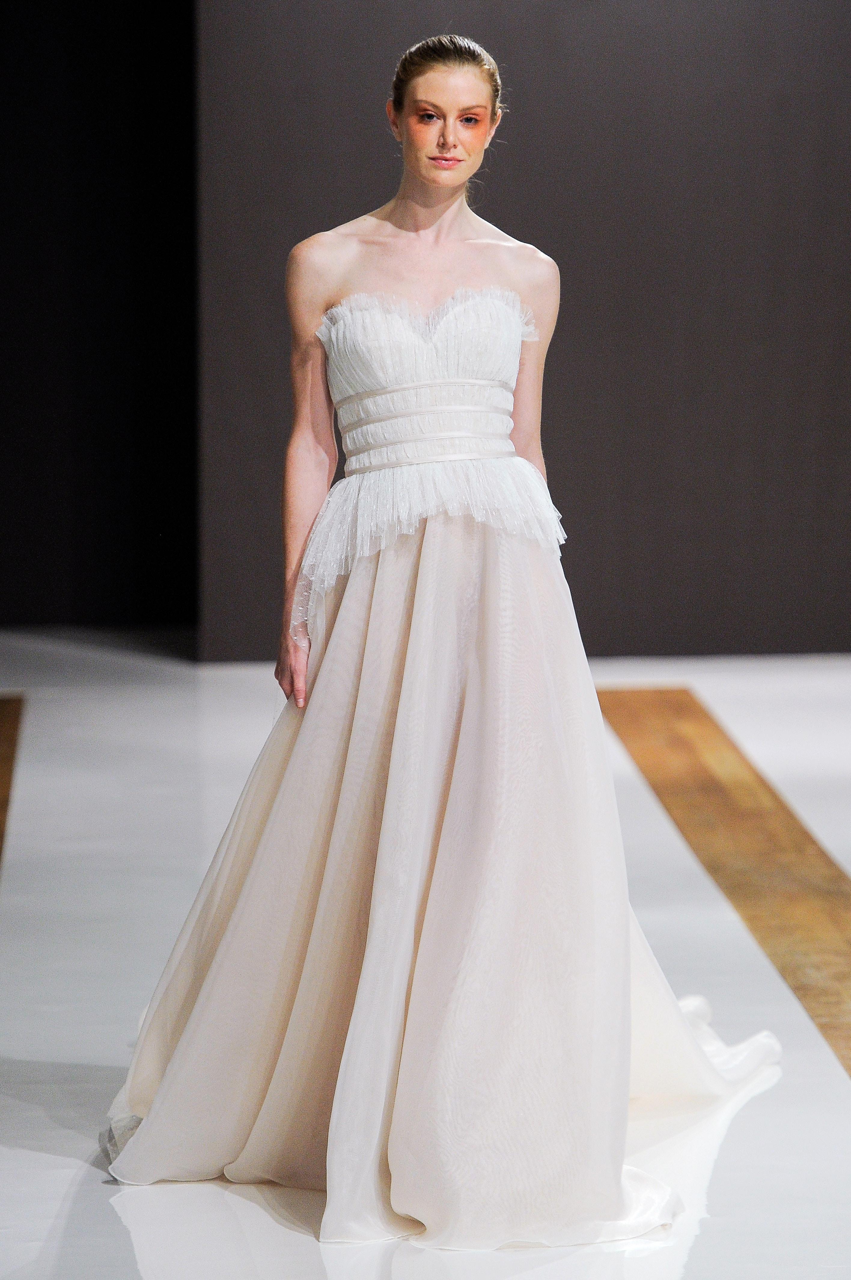 mark zunino wedding dress fall 2018 strapless banded tulle