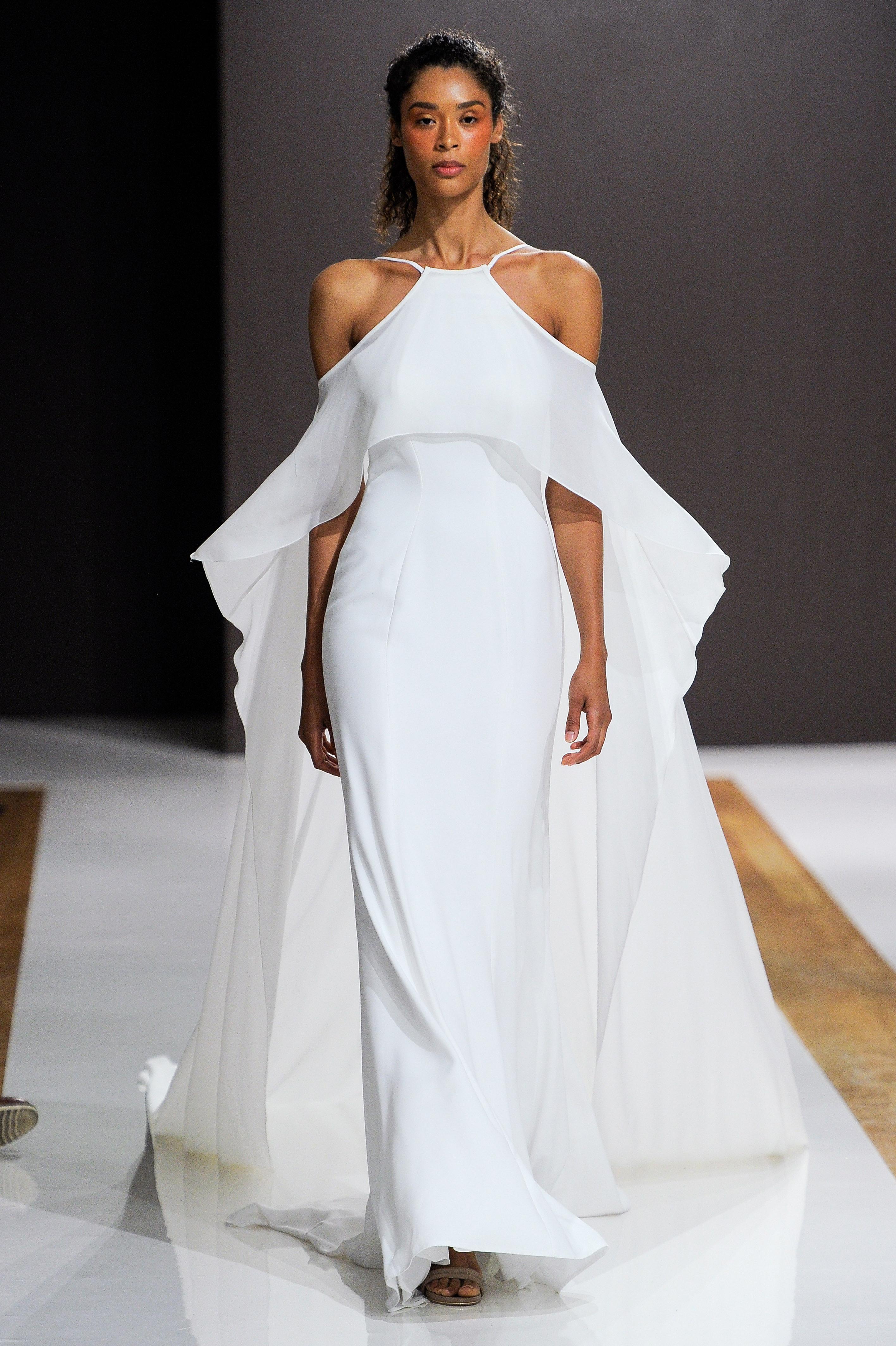 mark zunino wedding dress fall 2018 halter overlay flowy