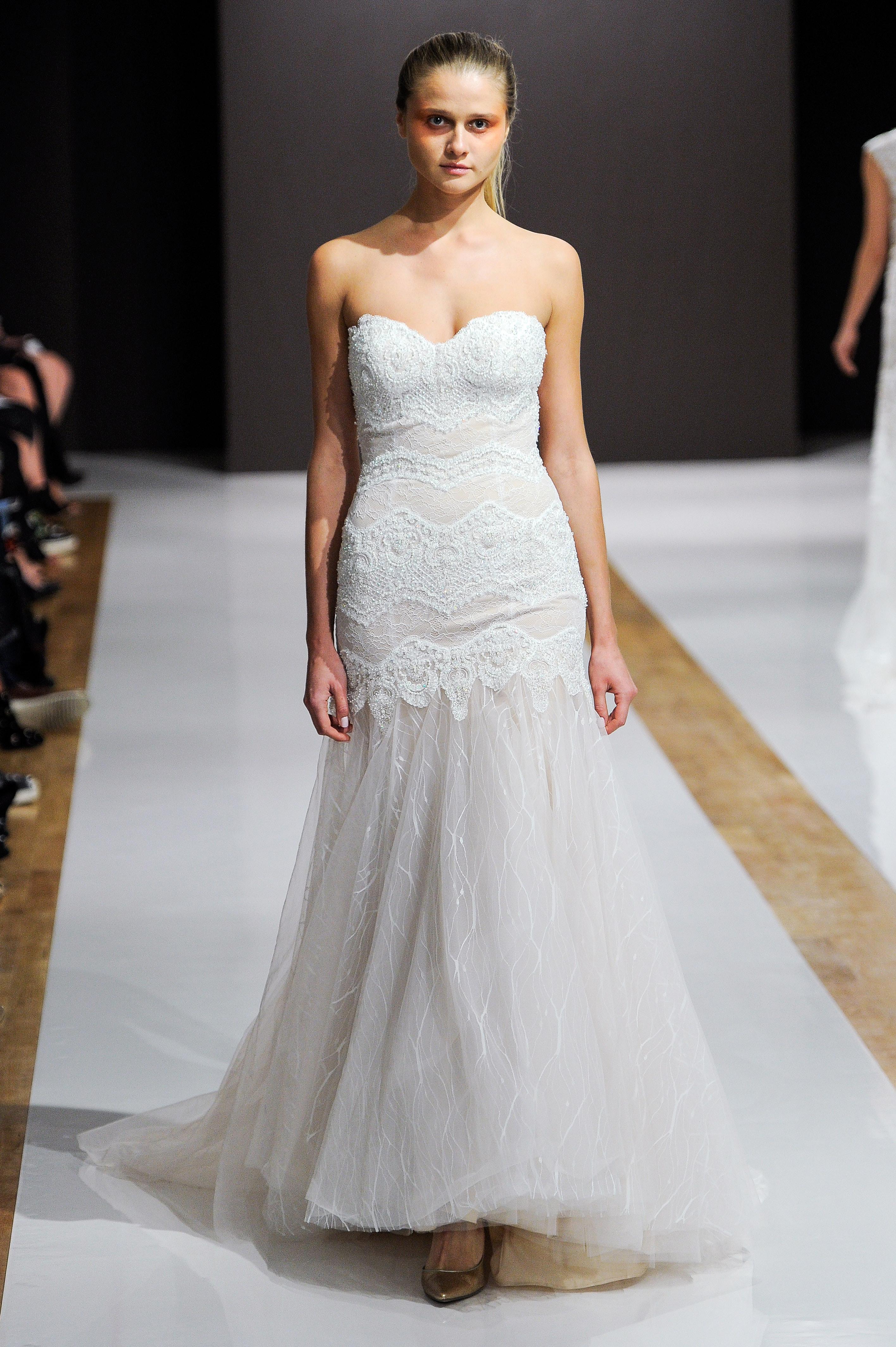 mark zunino wedding dress fall 2018 lace sweetheart sweetheart
