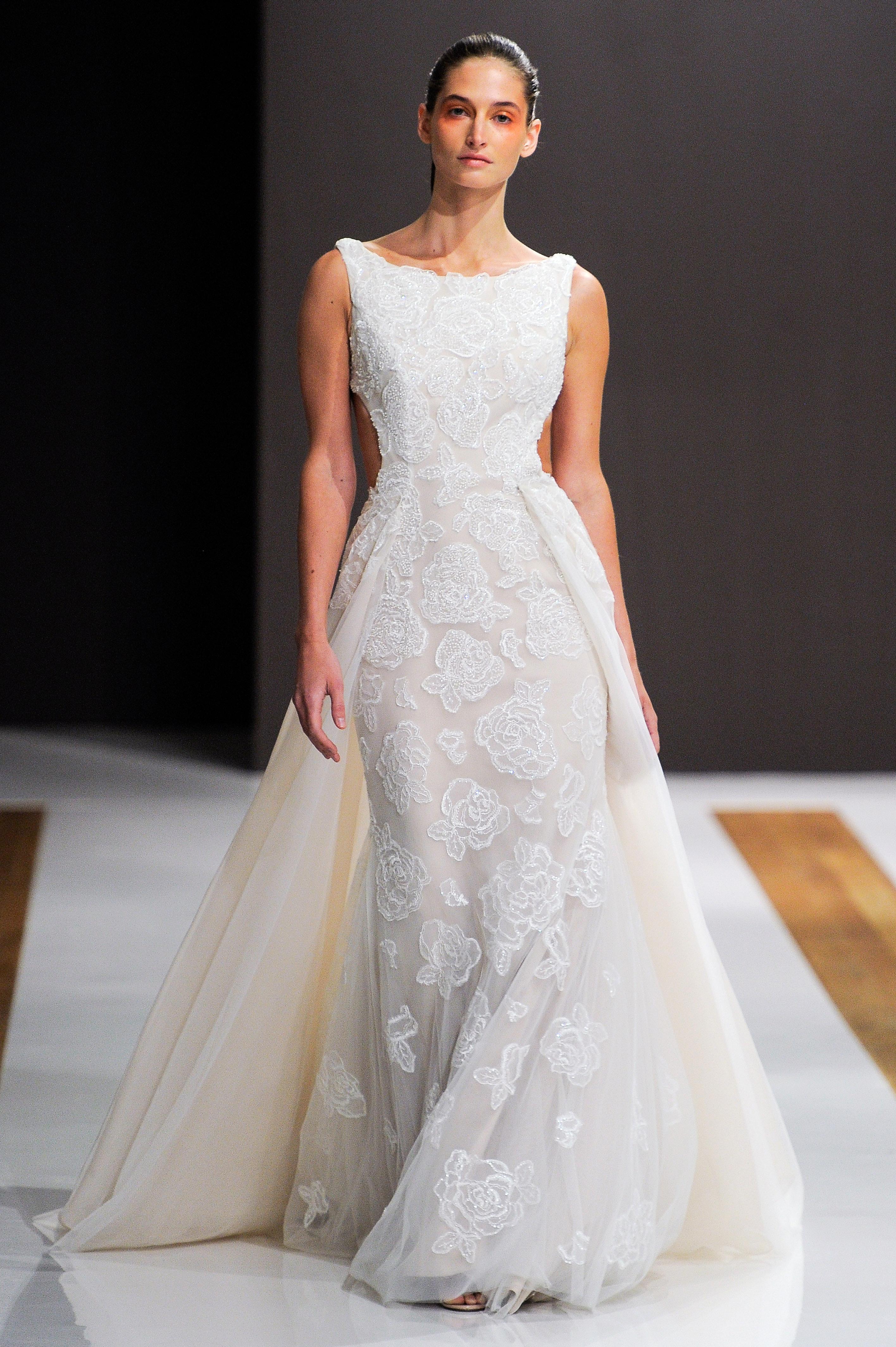 mark zunino wedding dress fall 2018 cut-out a-line sleeveless