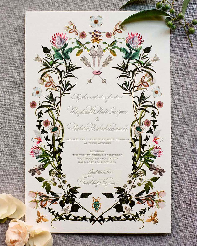 meg nick wedding invite