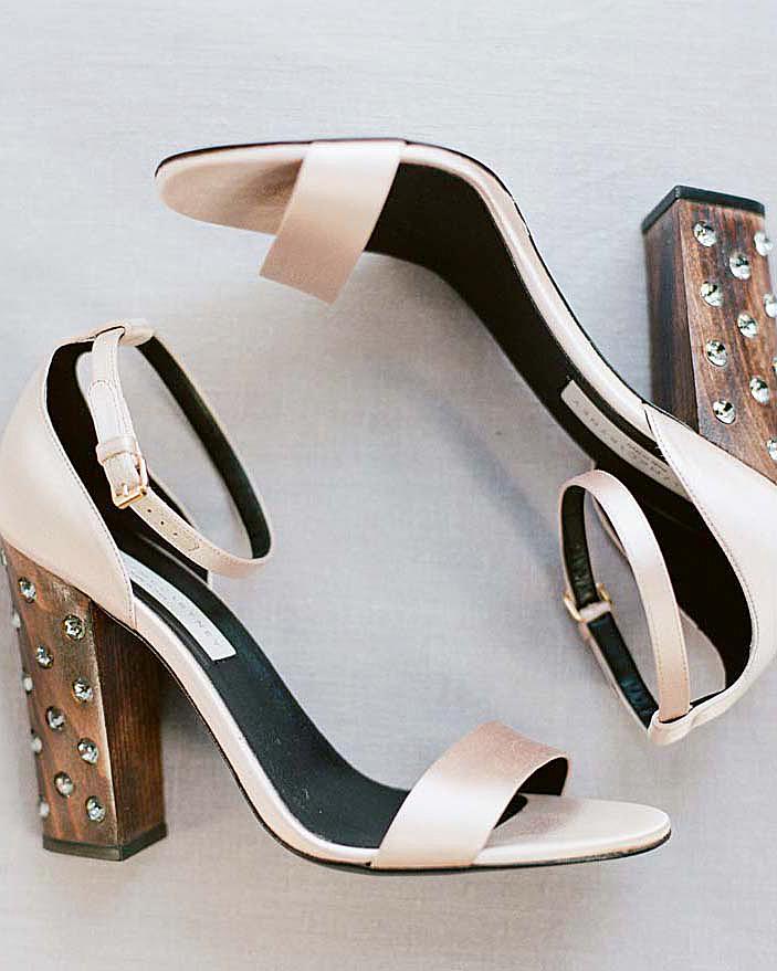 meg nick wedding shoes