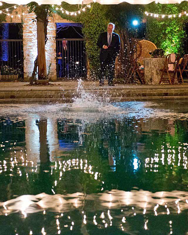 meg nick wedding pool