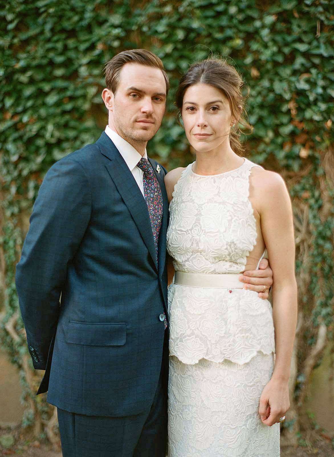 meg nick wedding couple formal