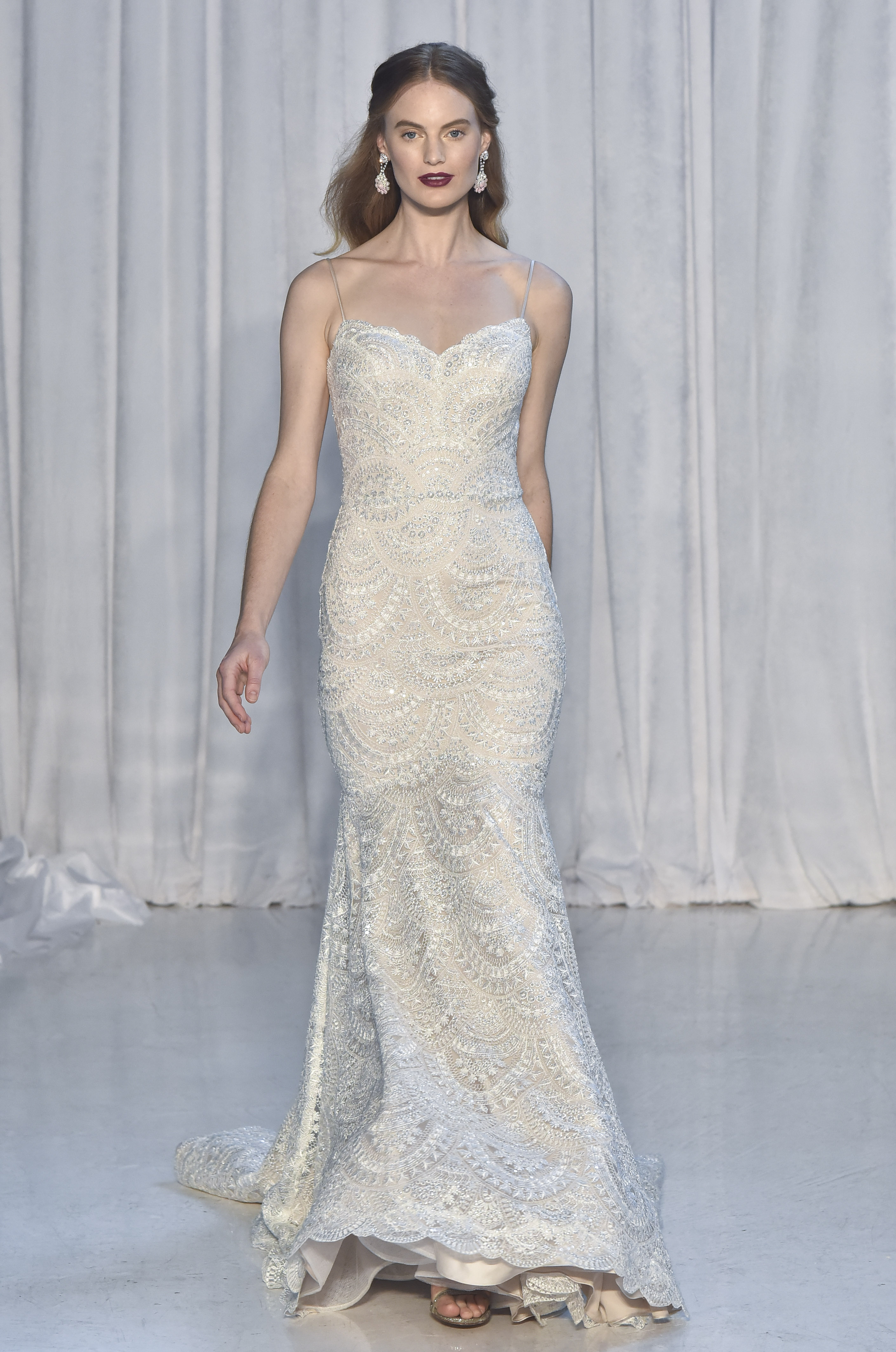 anne barge lace trumpet wedding dress fall 2018