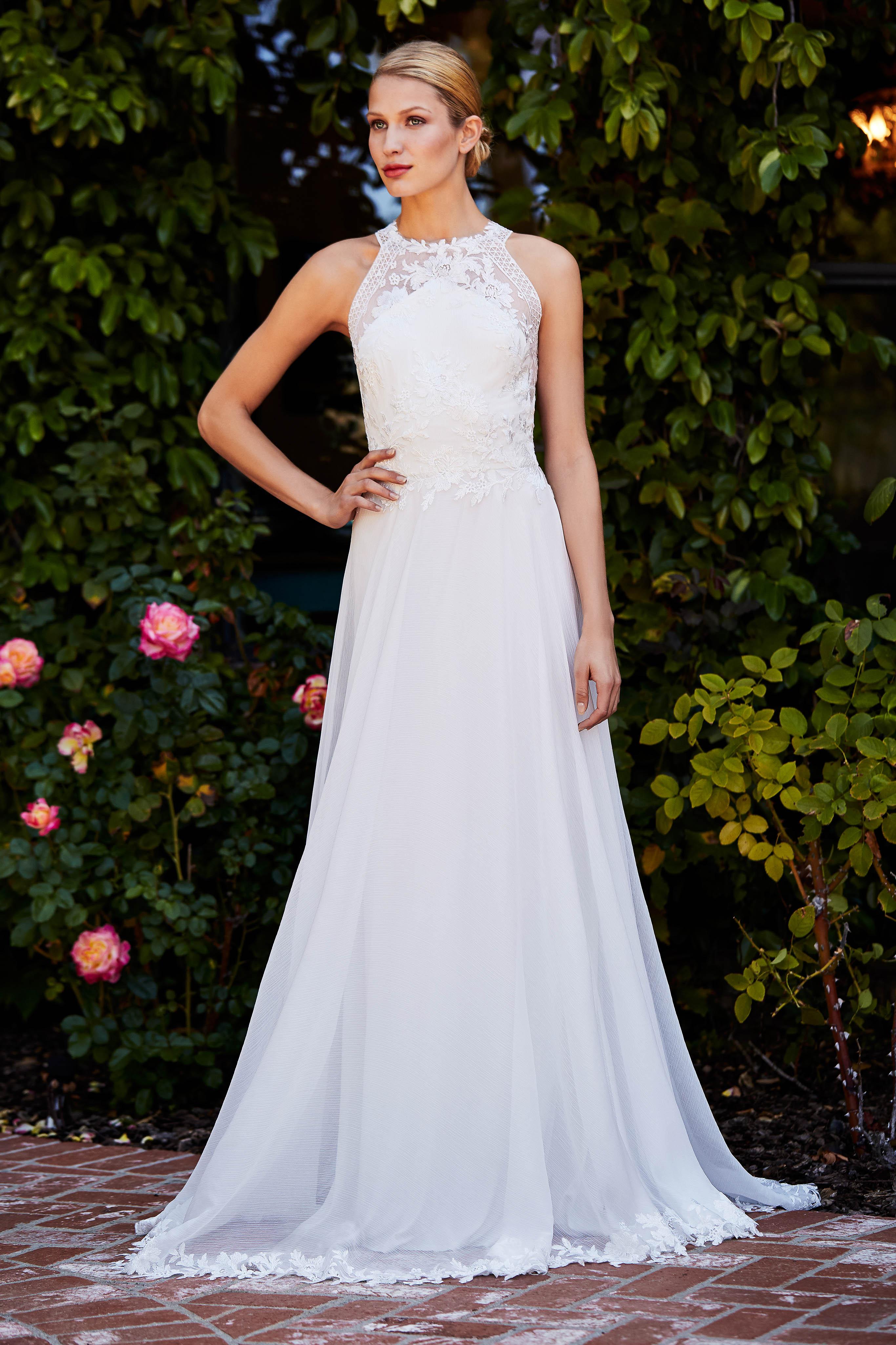 tadashi shoji wedding dress fall 2018 high neck a-line