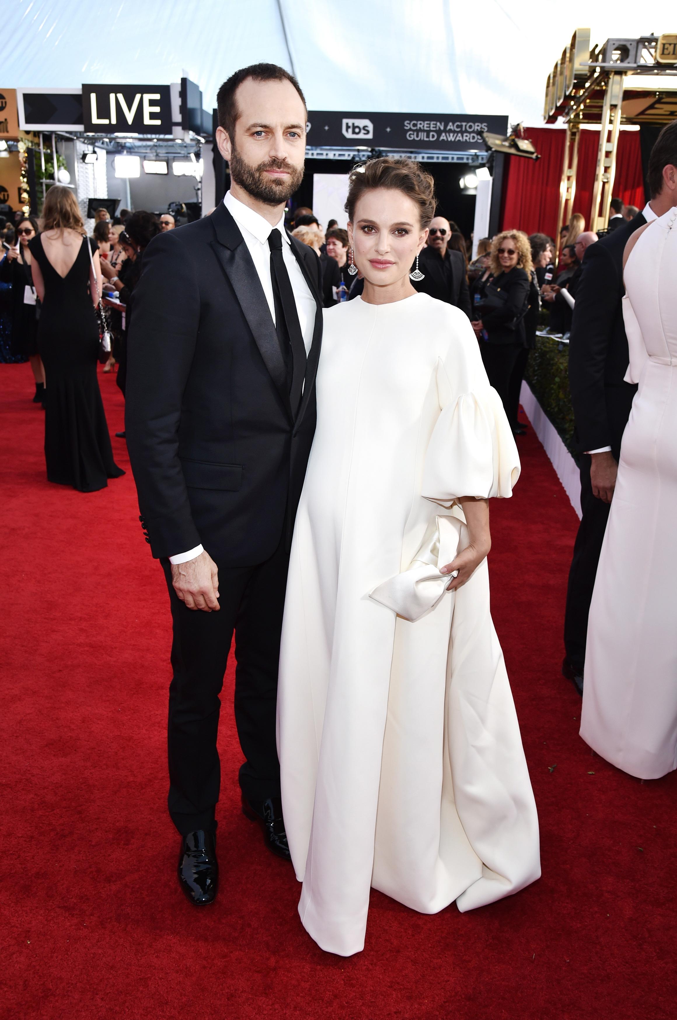 Natalie Portman and Benjamin Millepied Sag Awards 2017