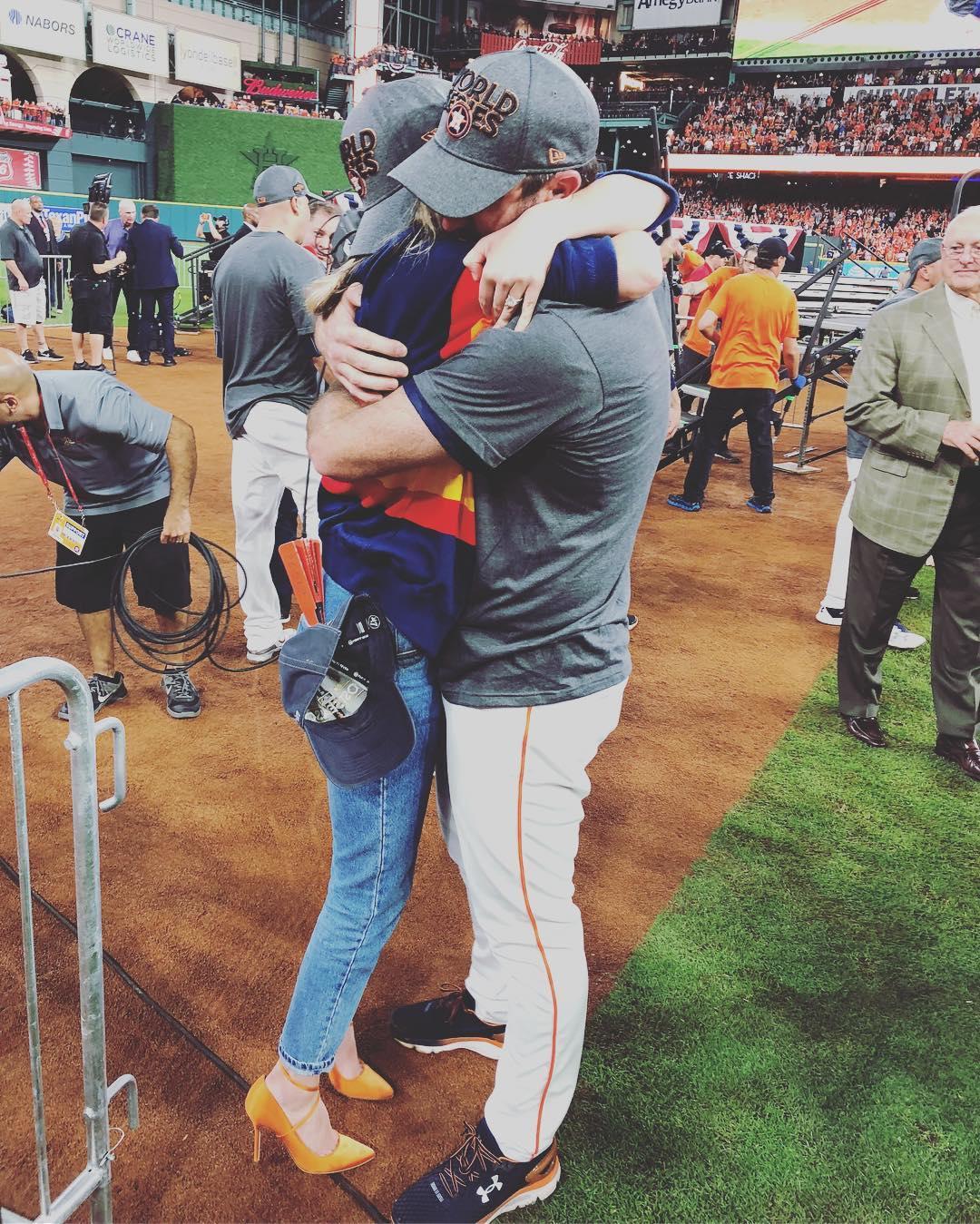 Kate Upton and Justin Verlander Hugging