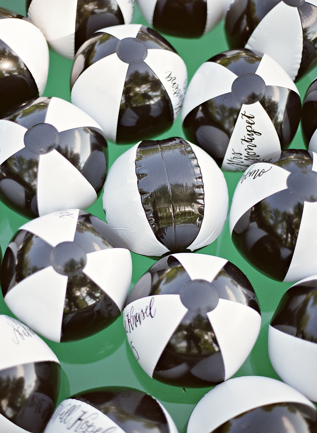 beach ball escort cards