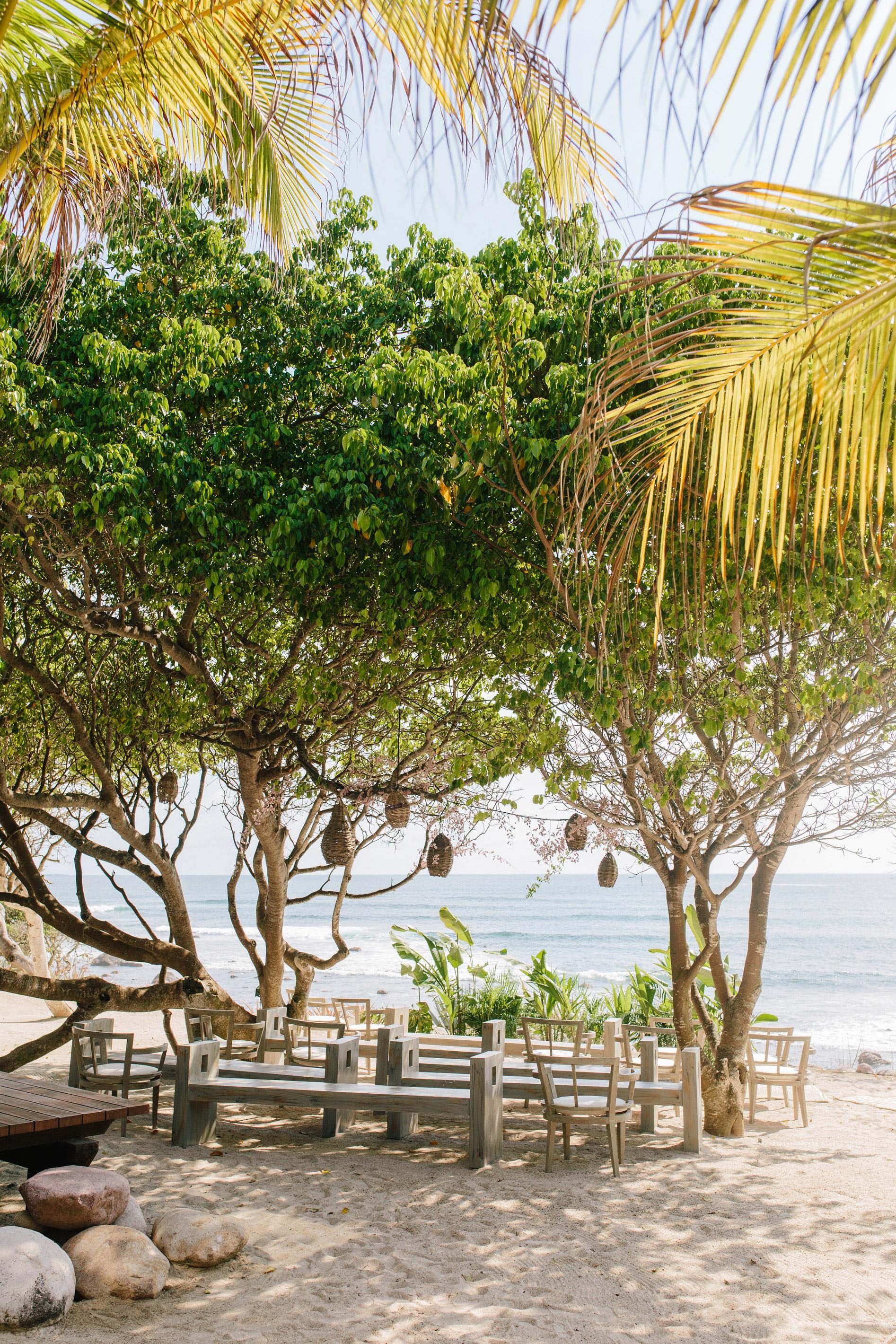 beach ceremony site