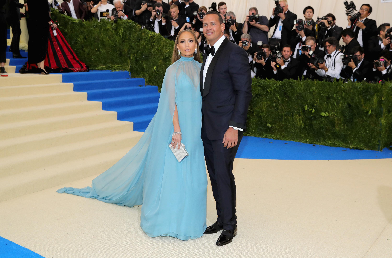Jennifer Lopez and Alex Rodriguez Met Gala 2017