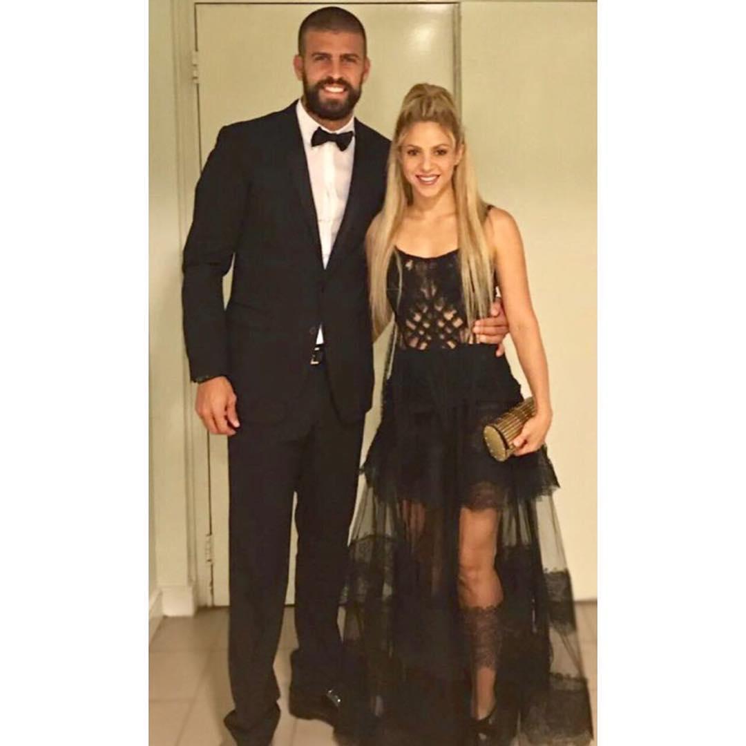 Shakira and Gerard Pique at Lionel Messi's wedding