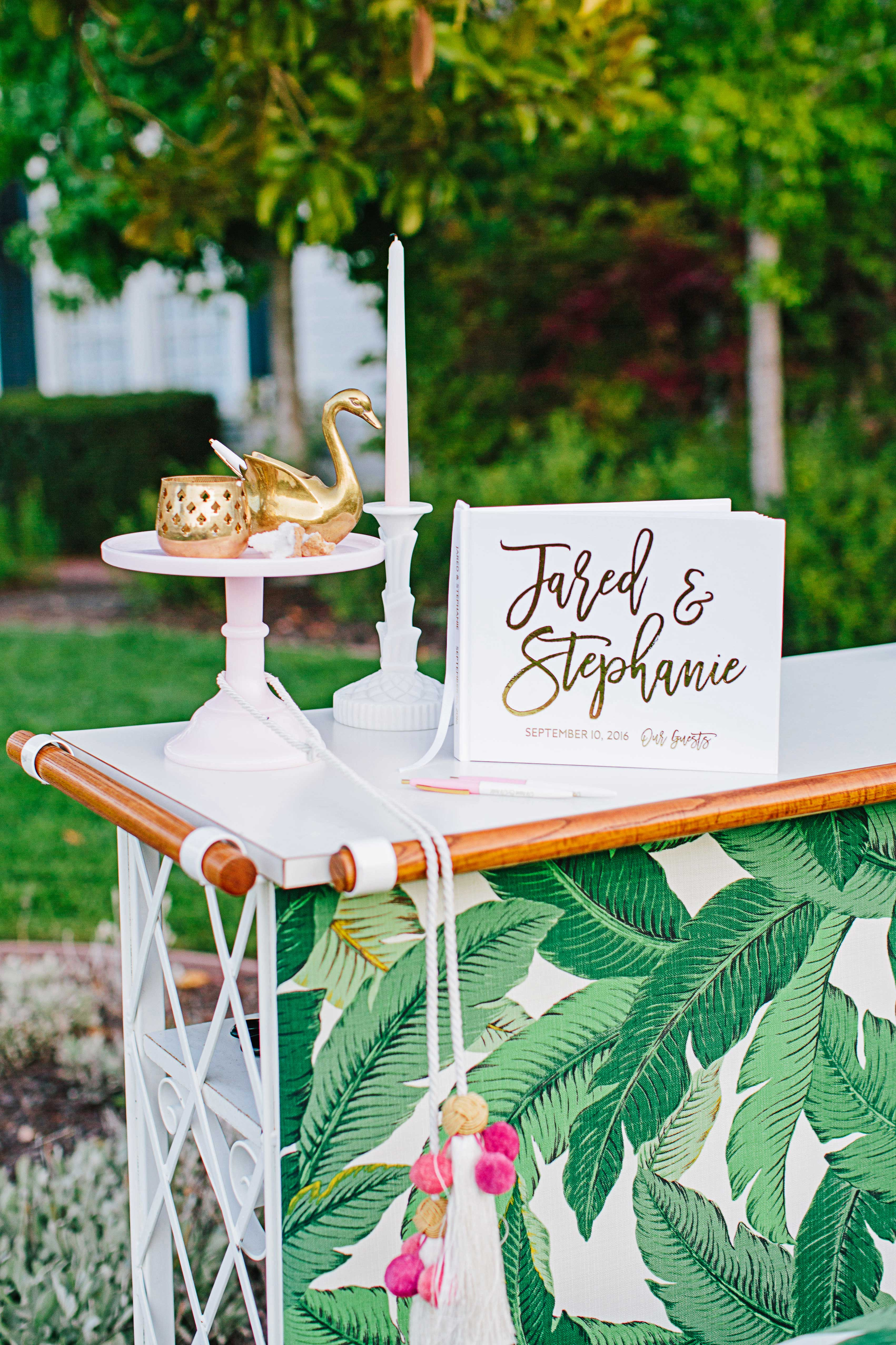 stephanie jared wedding guest book