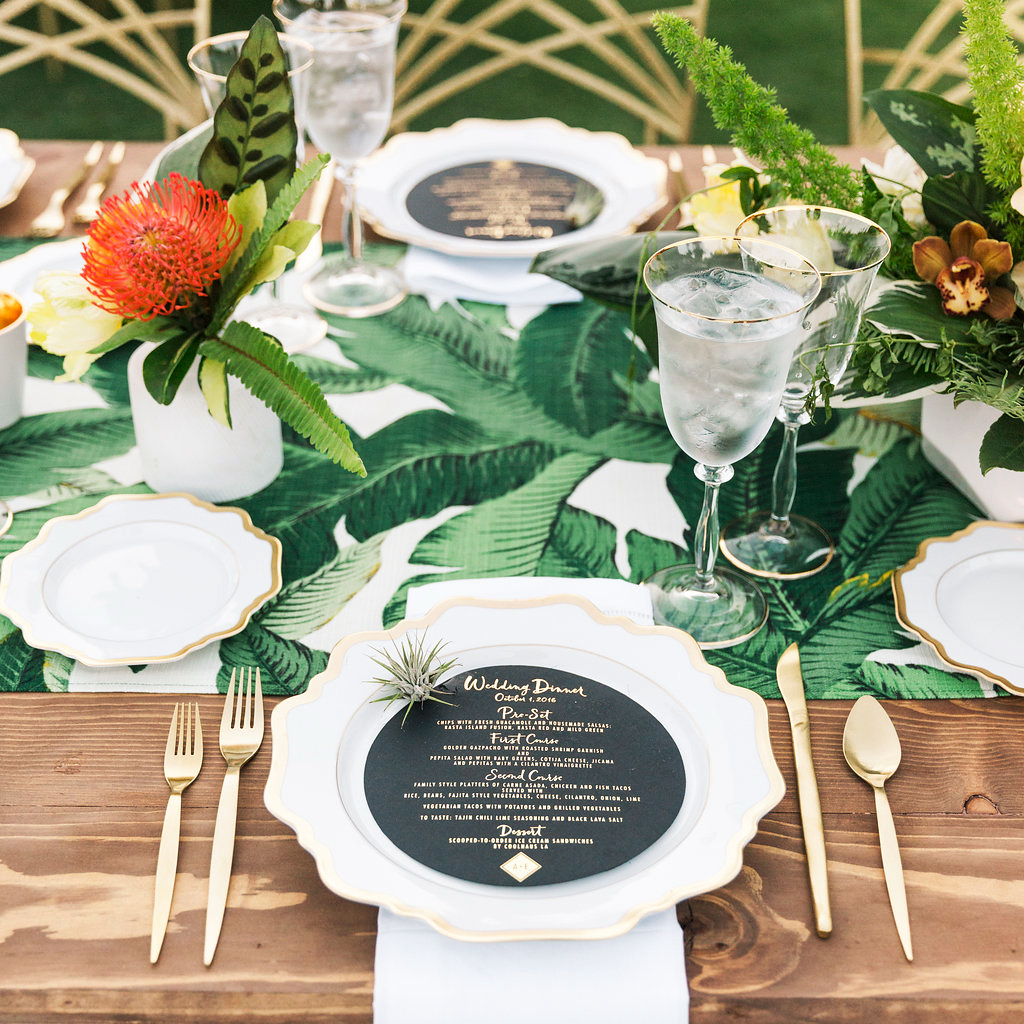 emily adhir wedding placesetting