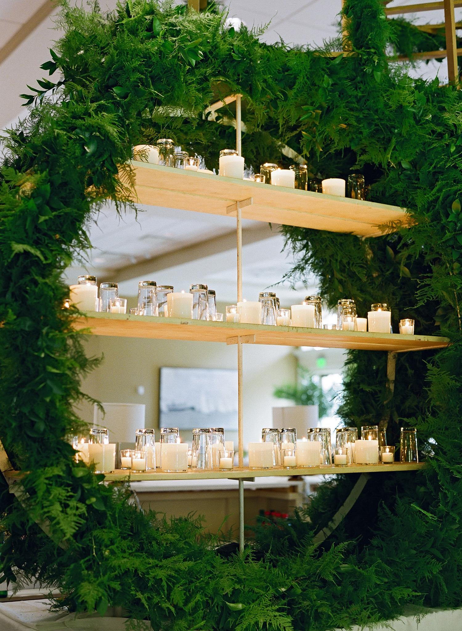 lindsay evan wedding bar shelves