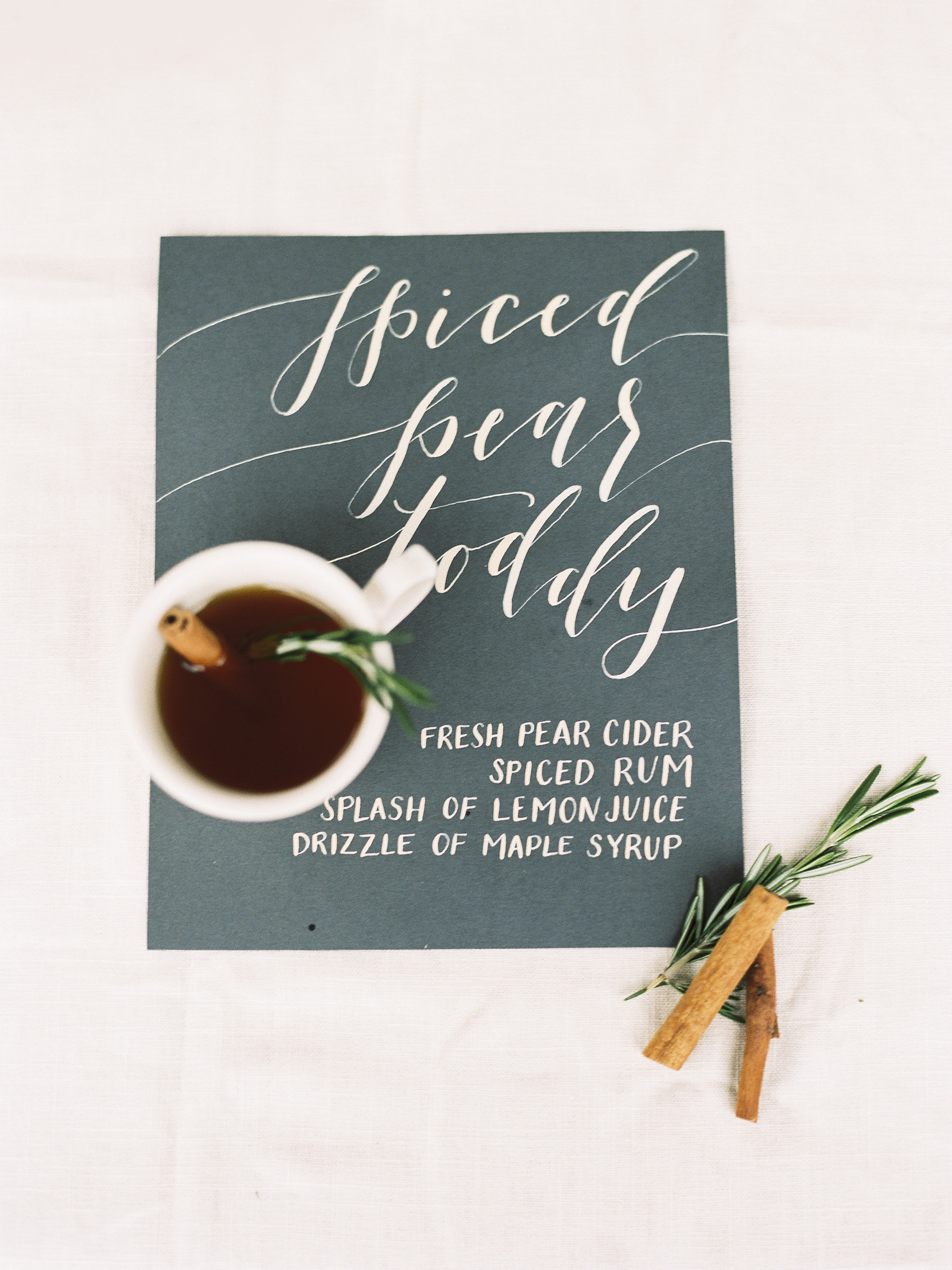 spiced pear toddy