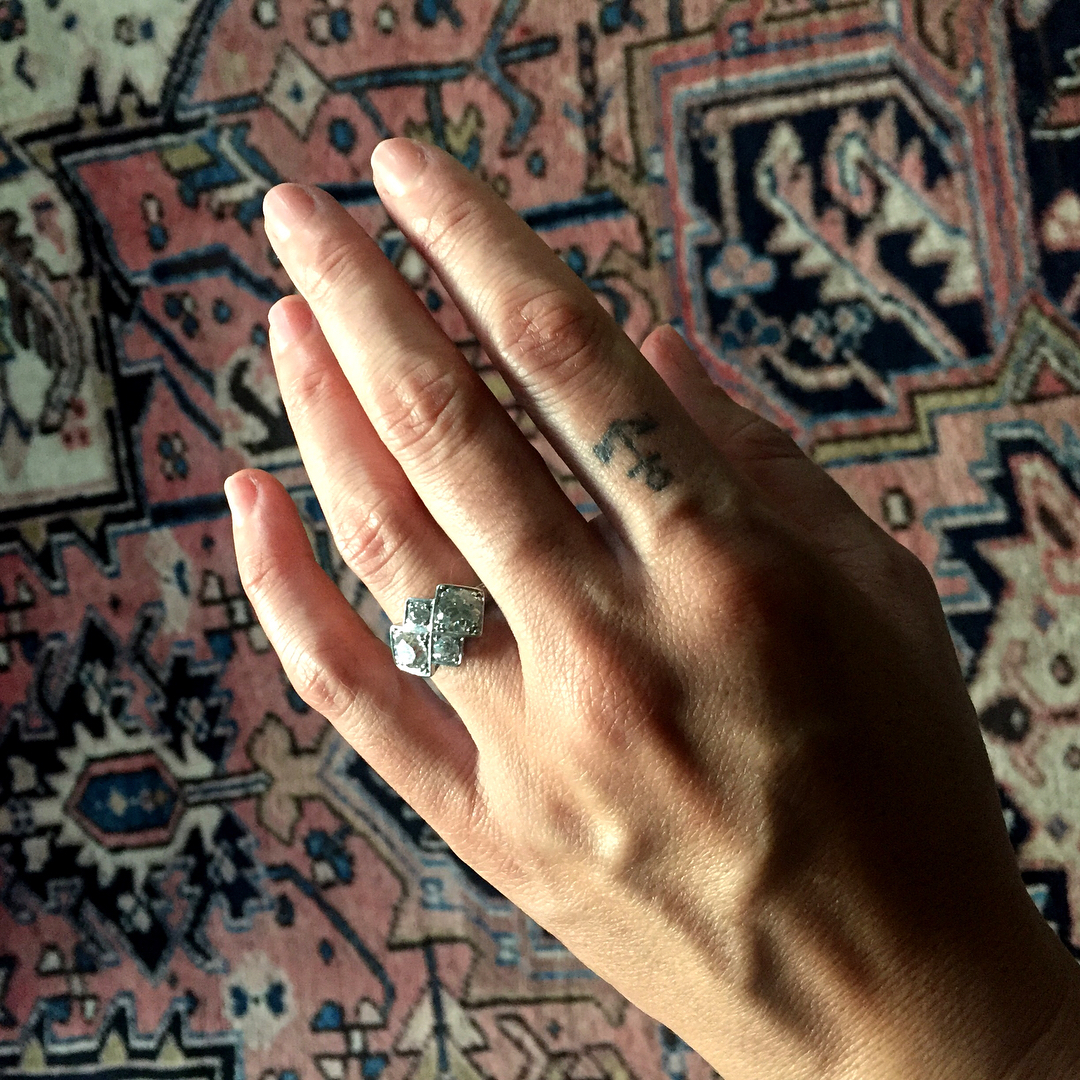 Michelle Branch art deco engagement ring from fiance Patrick Carney