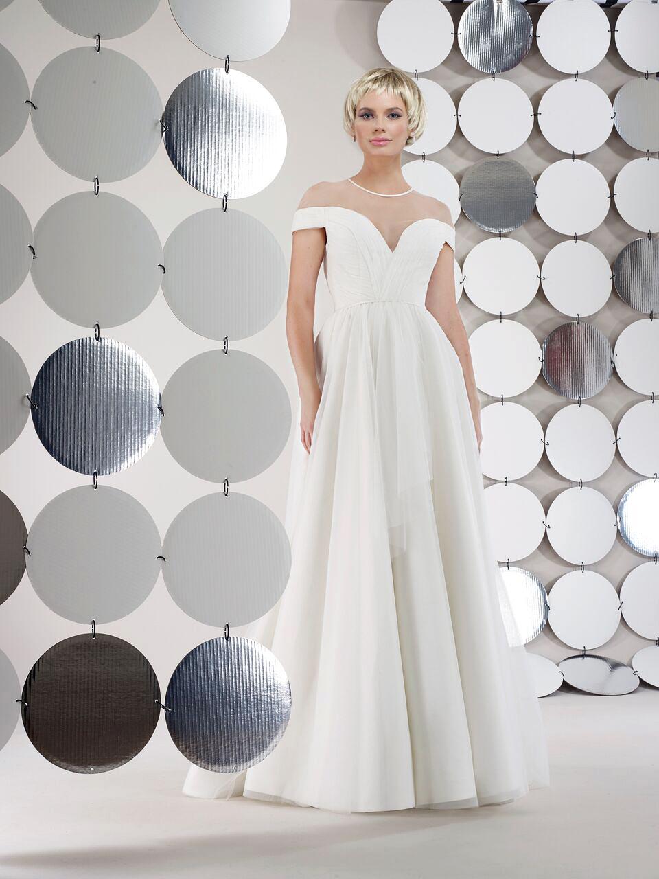 steven birnbaum bridal wedding dress fall 2018 off the shoulder v neck