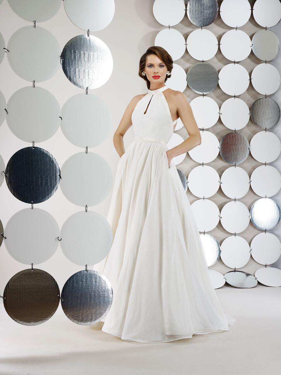 steven birnbaum bridal wedding dress fall 2018 sleeveless ballgown pockets