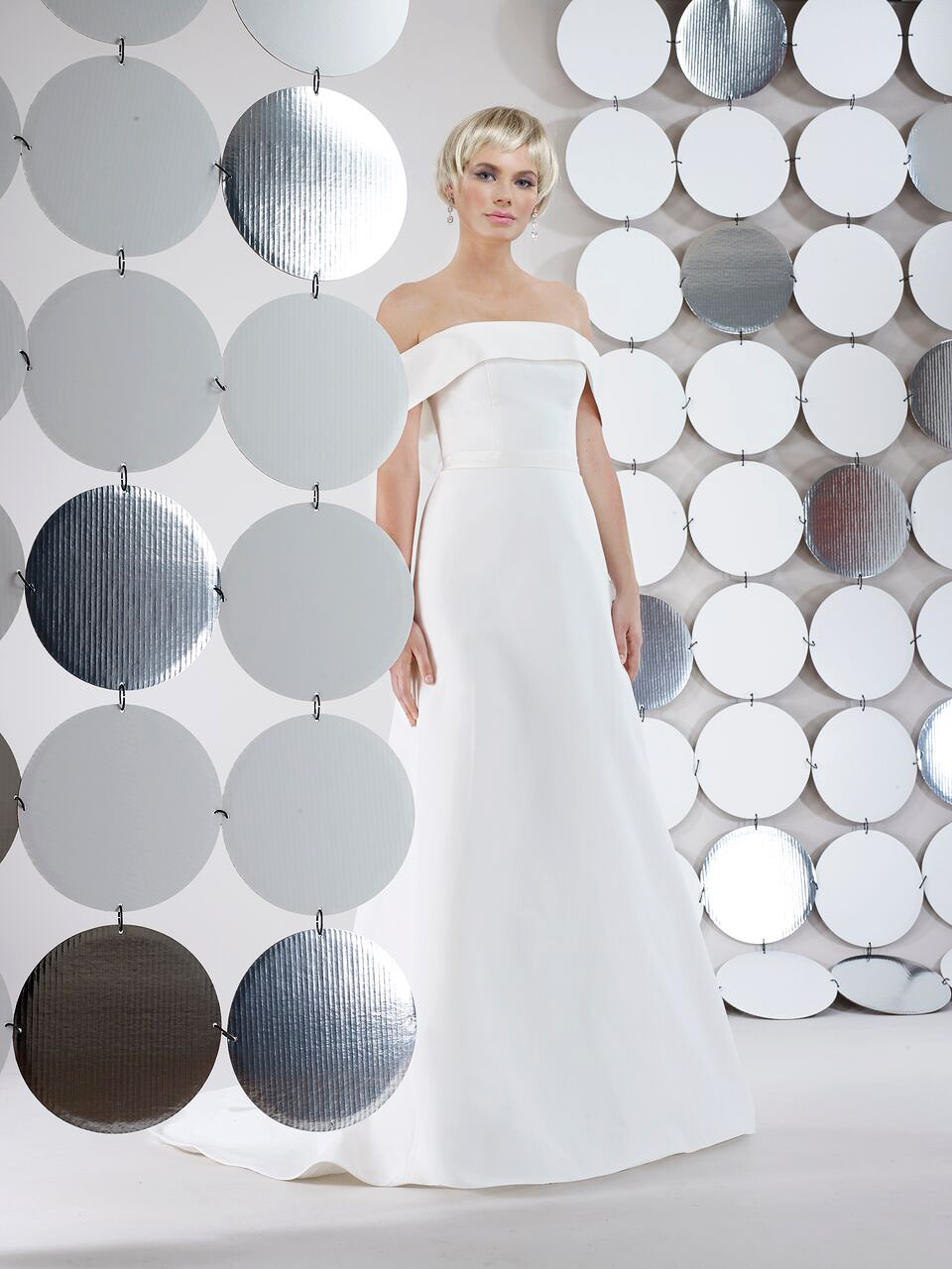 steven birnbaum bridal wedding dress fall 2018 off the shoulder a line