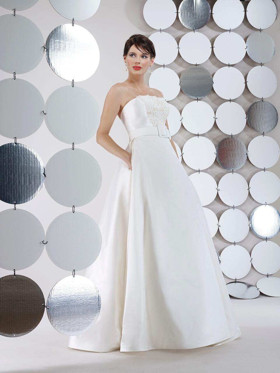 steven birnbaum bridal wedding dress fall 2018 strapless belted ballgown pockets