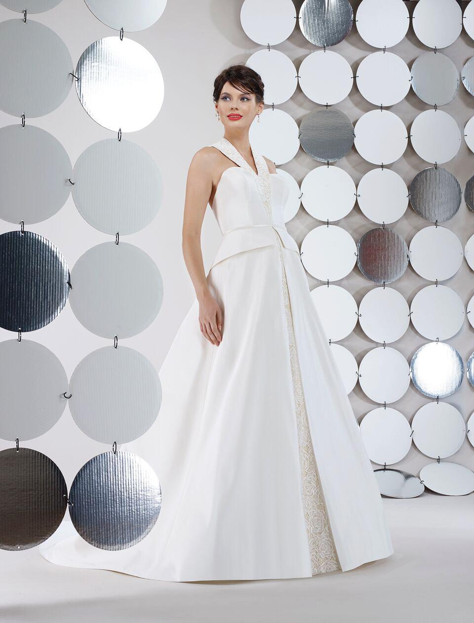 steven birnbaum bridal wedding dress fall 2018 sleeveless peplum ballgown