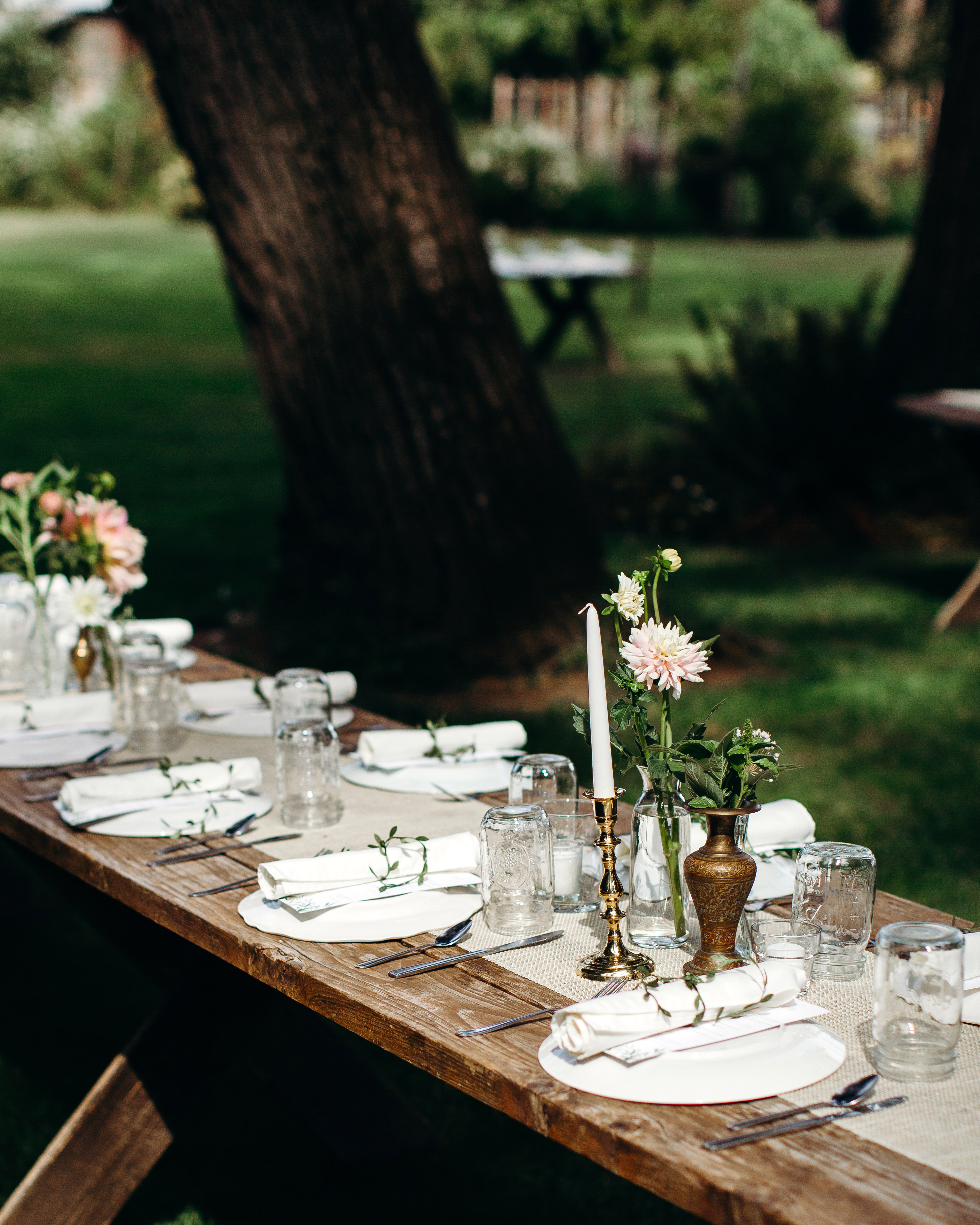 wedding table placesettings