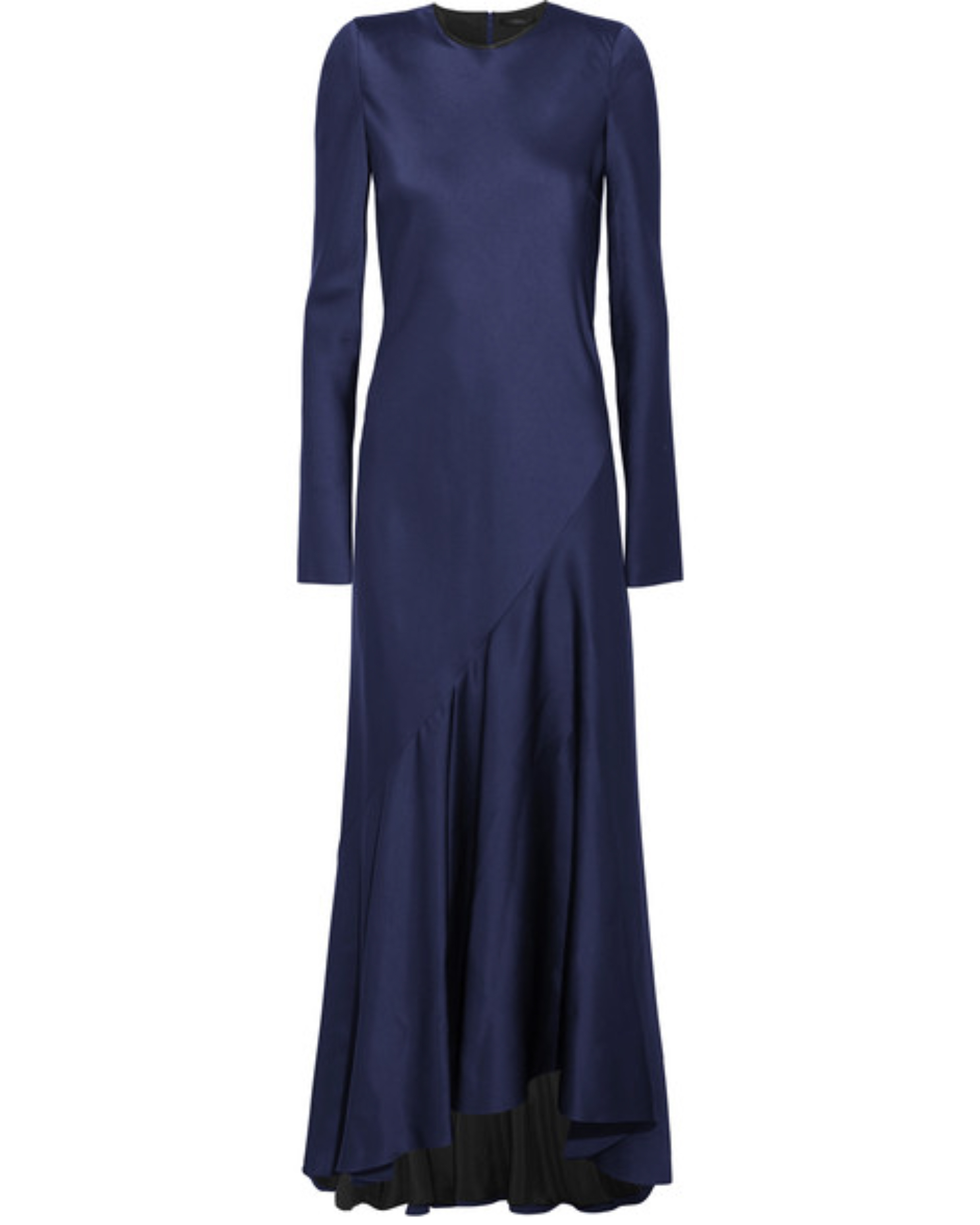dark blue long sleeve gown